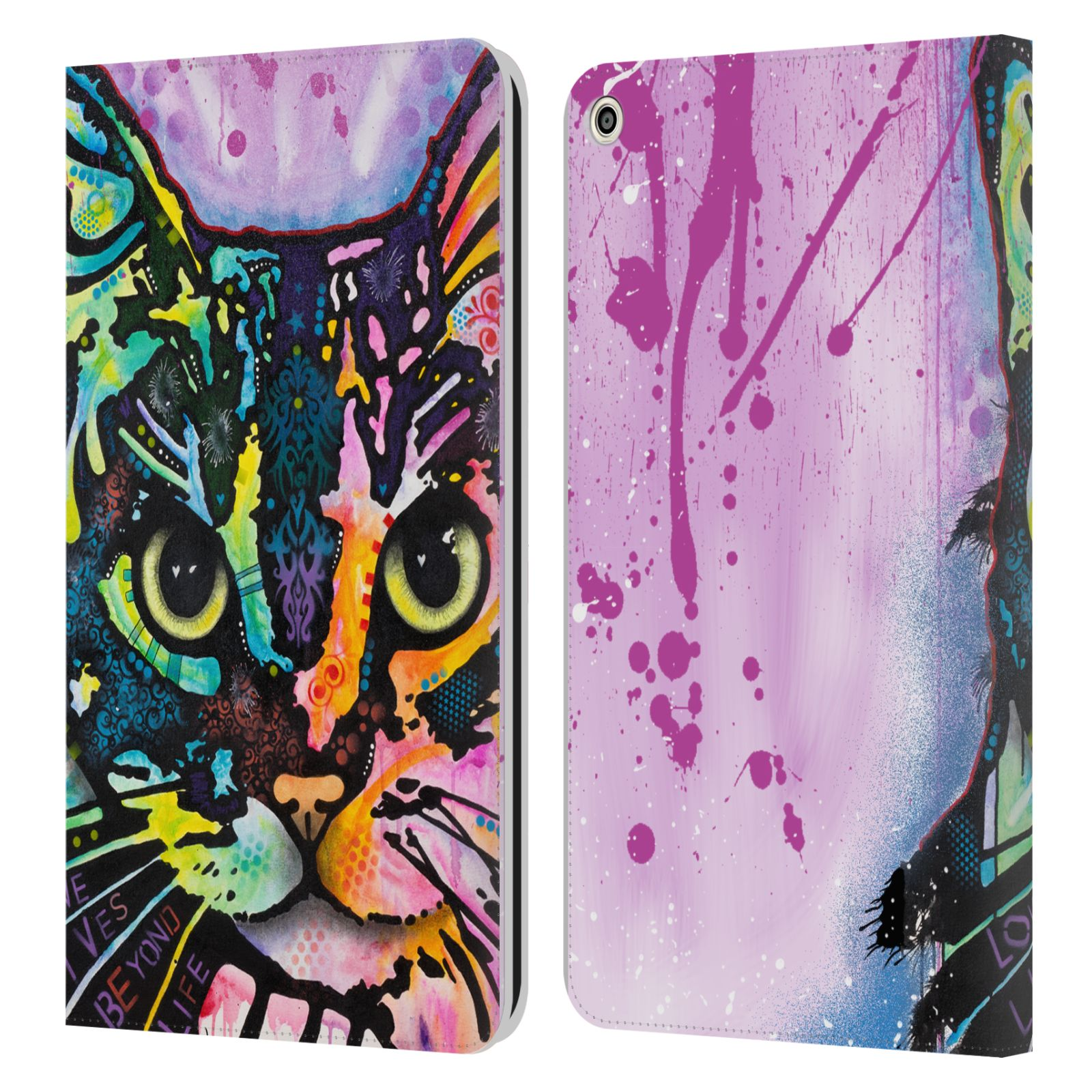 Official Dean Russo Cats Maya Leather Book Wallet Case For Huawei MediaPad T3 8.0