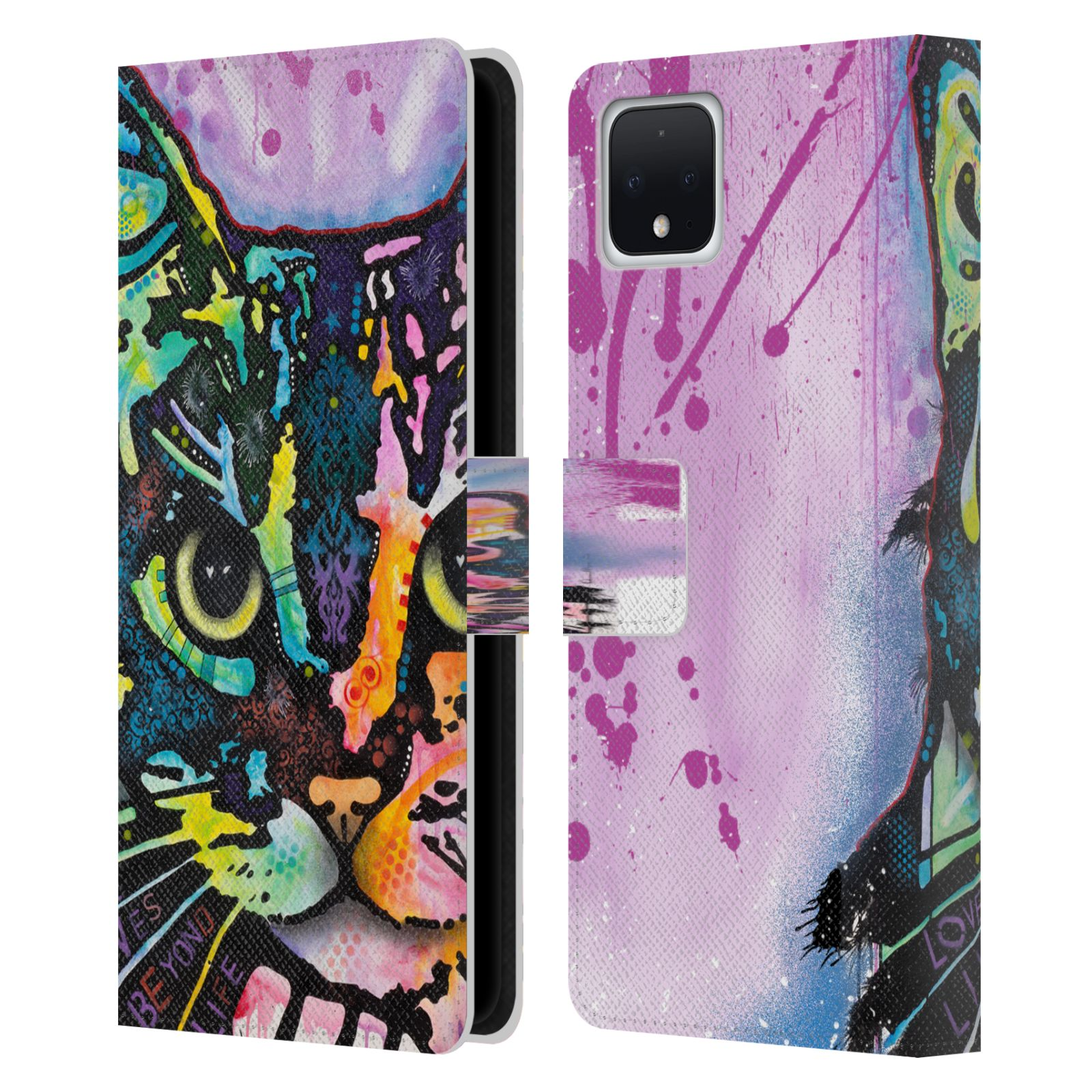 Official Dean Russo Cats Maya Leather Book Wallet Case For Google Pixel 4 XL