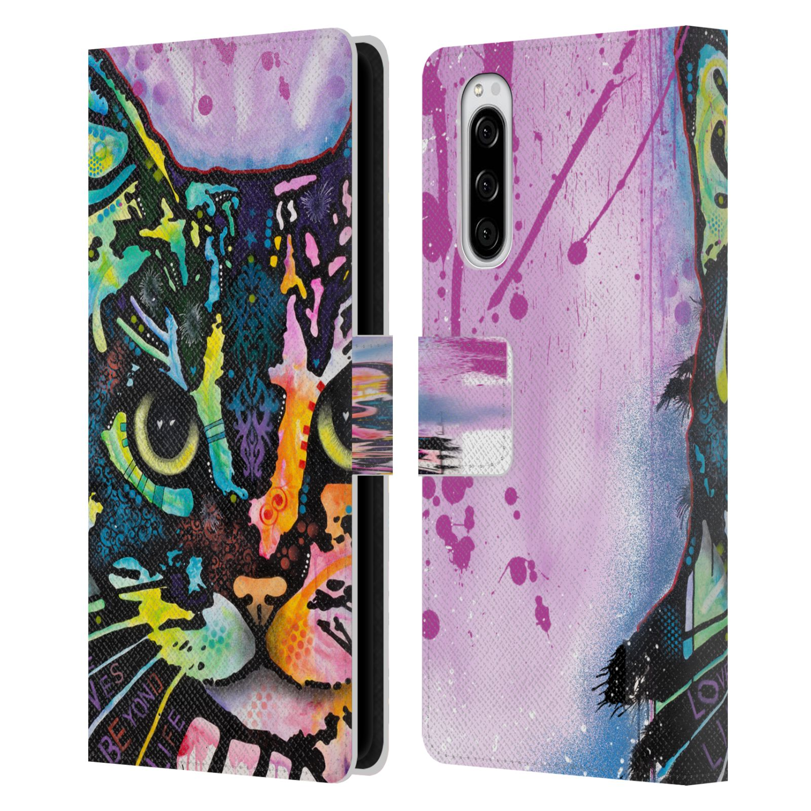 Official Dean Russo Cats Maya Leather Book Wallet Case For Sony Xperia 5