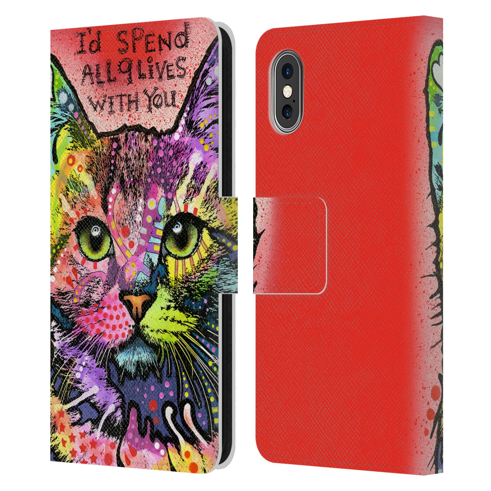 OFFICIAL-DEAN-RUSSO-CATS-2-LEATHER-BOOK-WALLET-CASE-FOR-APPLE-iPHONE-PHONES