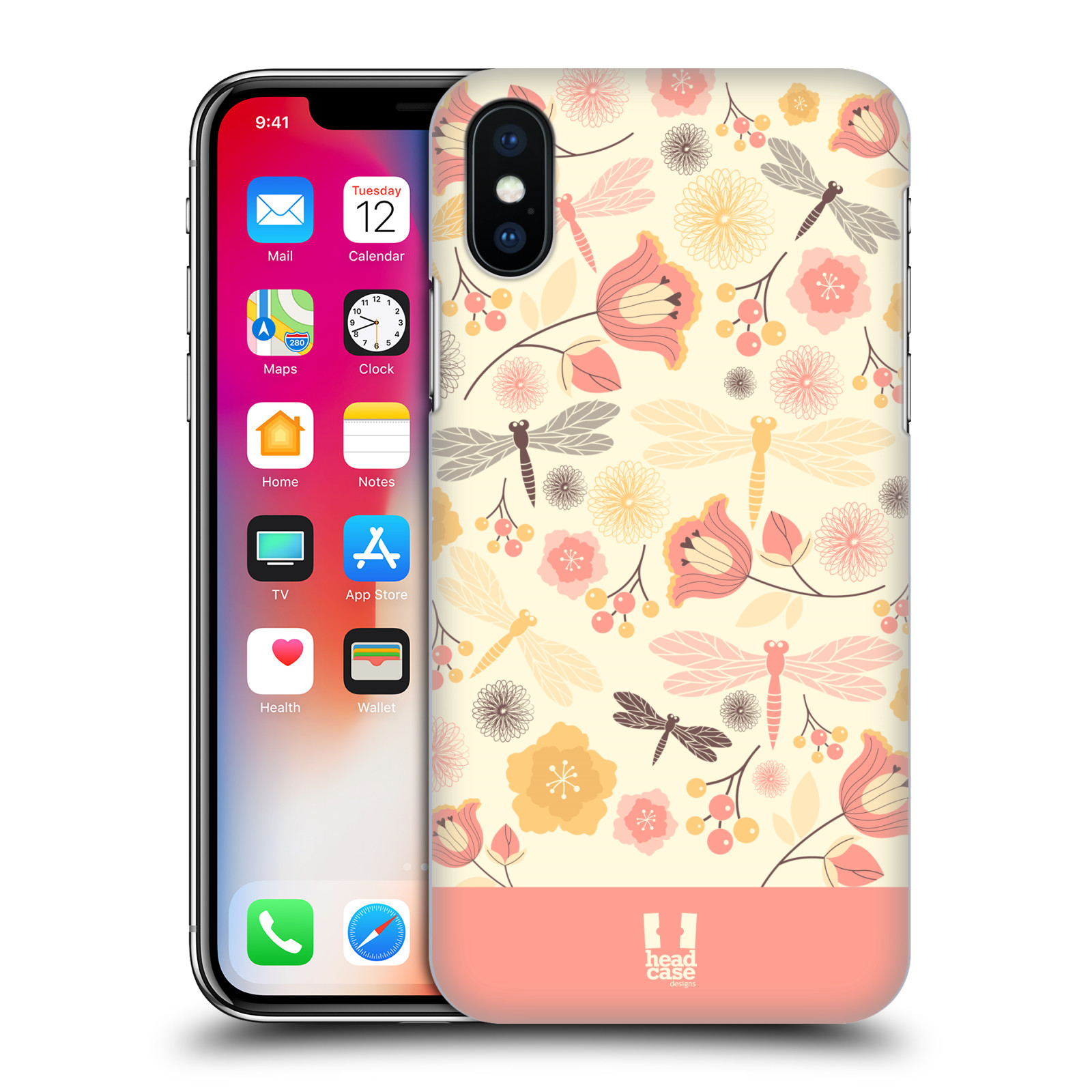 HEAD-CASE-DESIGNS-DRAGONFLIES-HARD-BACK-CASE-FOR-APPLE-iPHONE-X