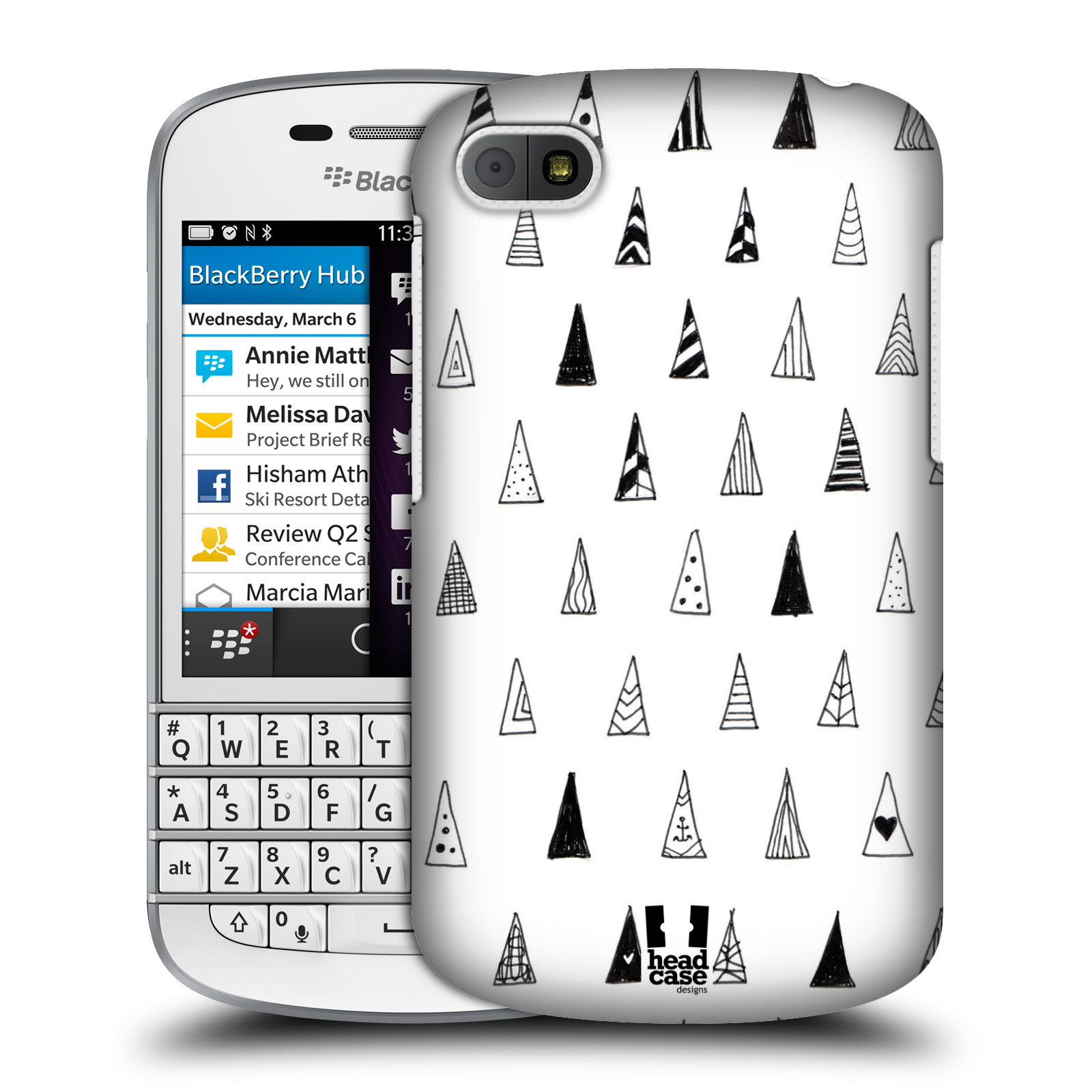 Bb Collection On Ebay Blackberry Q10 White Head Case Designs Black And Doodle Patterns Cover For