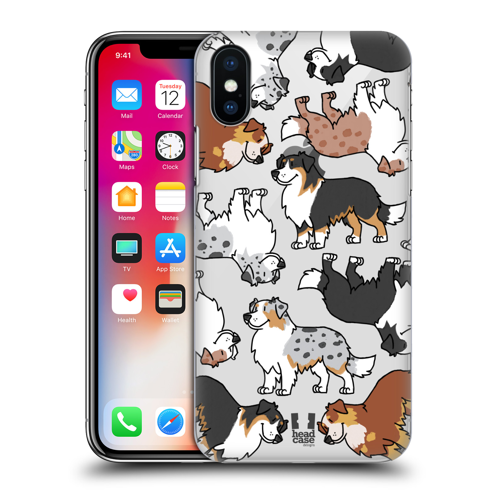HEAD-CASE-DESIGNS-DOG-BREED-PATTERNS-3-HARD-BACK-CASE-FOR-APPLE-iPHONE-X