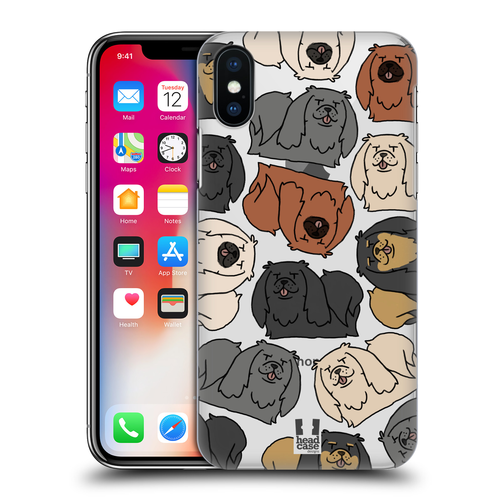 HEAD-CASE-DESIGNS-DOG-BREED-PATTERNS-5-HARD-BACK-CASE-FOR-APPLE-iPHONE-X