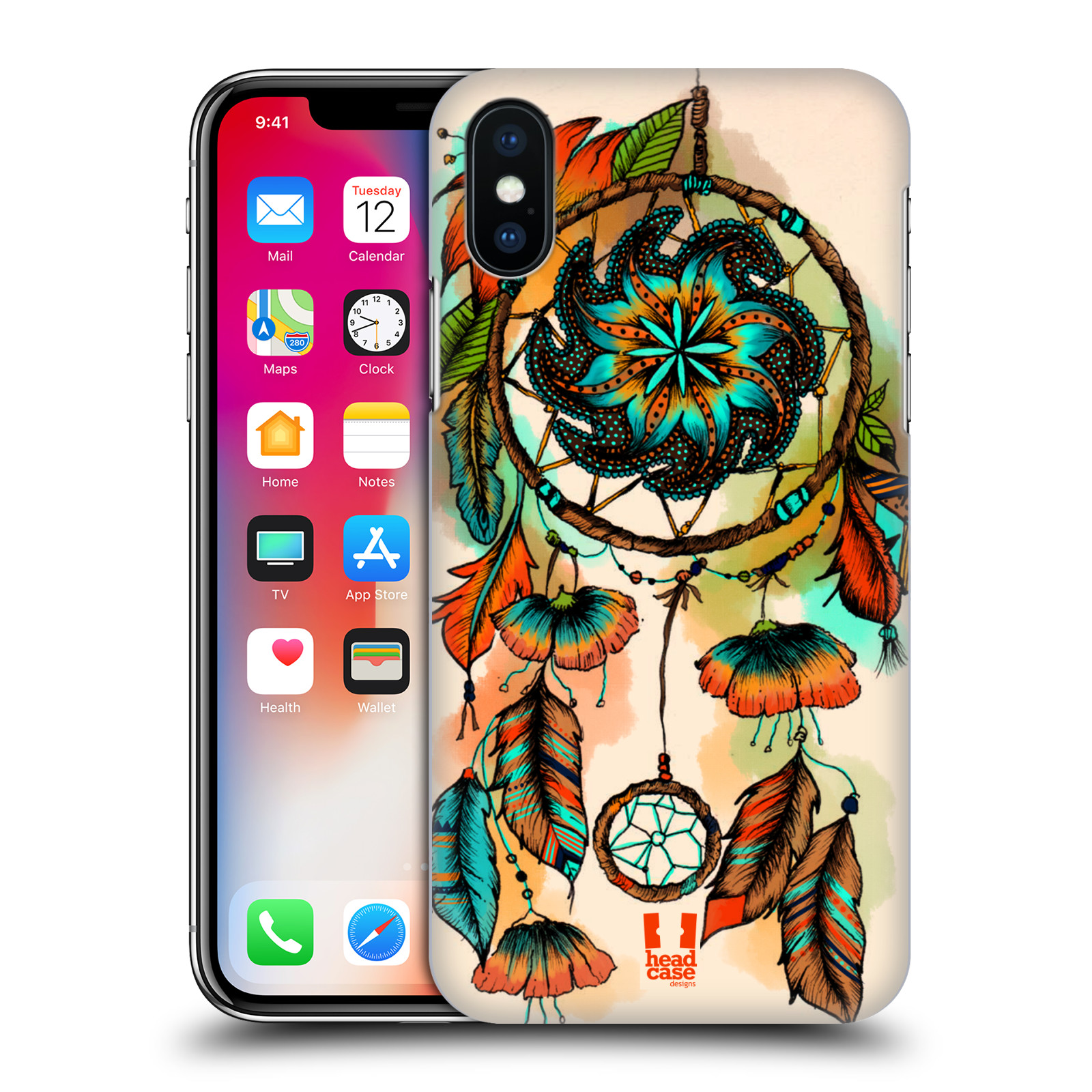 HEAD-CASE-DESIGNS-DREAMCATCHER-BLOOM-HARD-BACK-CASE-FOR-APPLE-iPHONE-X