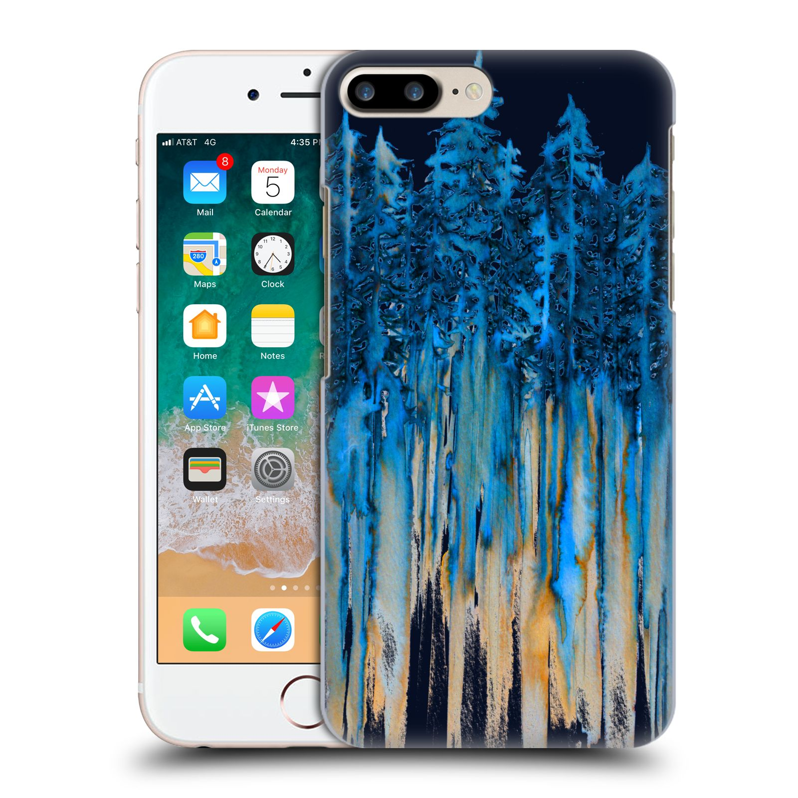 Ufficiale Ebi Emporium Acquarelli Attraverso Gli Alberi Cover retro per Apple iPhone 7 Plus / iPhone 8 Plus