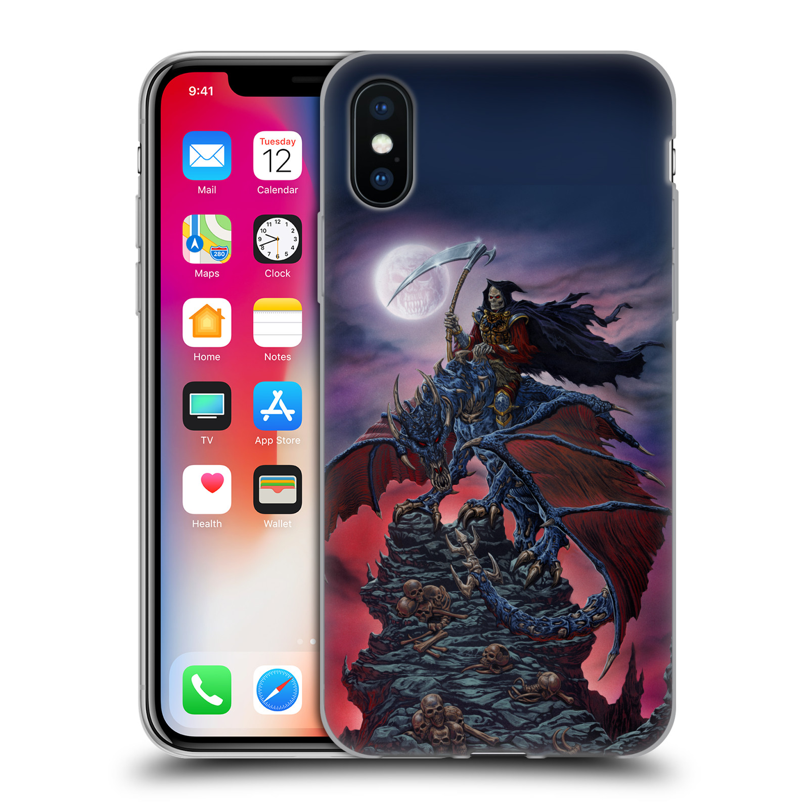 UFFICIALE-ED-BEARD-JR-DRAGHI-COVER-MORBIDA-IN-GEL-PER-APPLE-iPHONE-TELEFONI