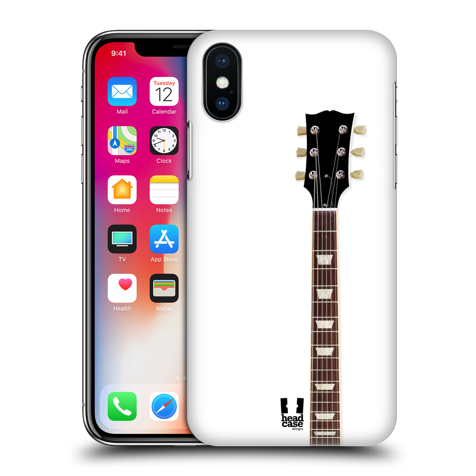 HEAD-CASE-DESIGNS-ELECTRIC-GUITAR-HARD-BACK-CASE-FOR-APPLE-iPHONE-X