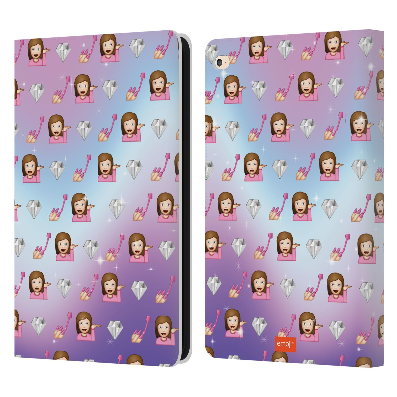 Book Cover Pattern Uk : Official emoji patterns leather book wallet case cover for