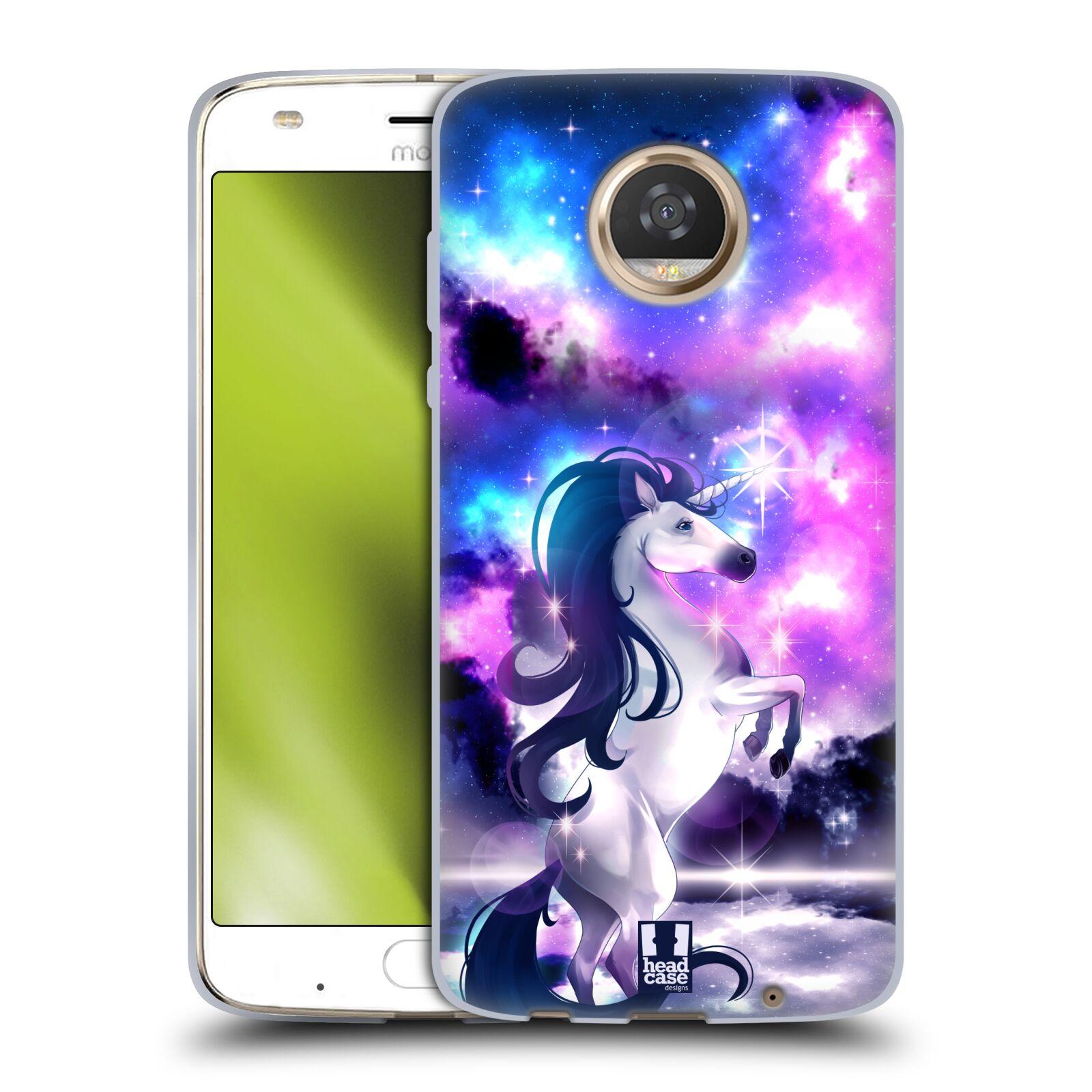 Funda-HEAD-CASE-DESIGNS-CON-encantado-Unicornios-Gel-Suave-Para-Telefonos-Motorola