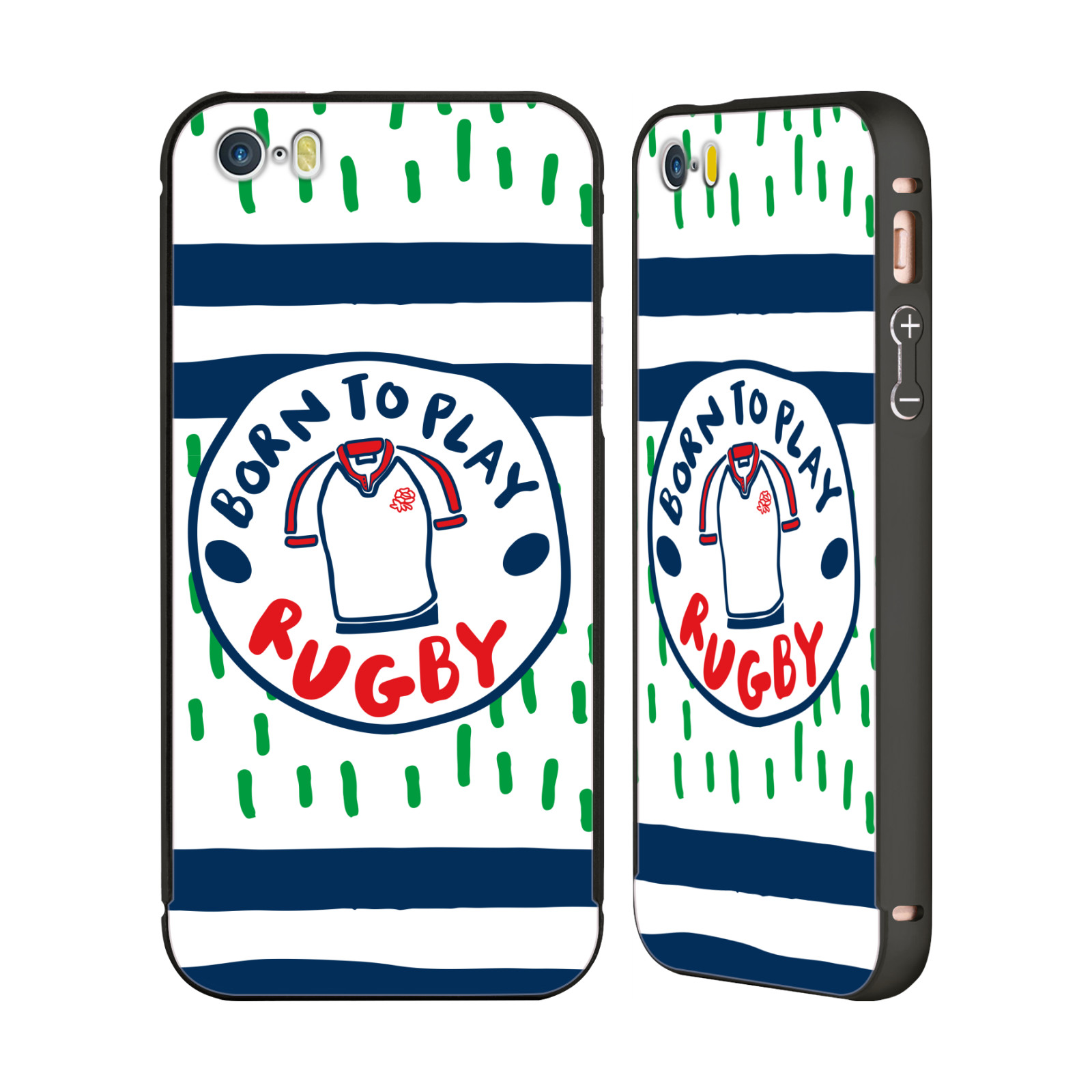 ENGLAND-RUGBY-UNION-2017-18-KIDS-BLACK-SLIDER-CASE-FOR-APPLE-iPHONE-PHONES