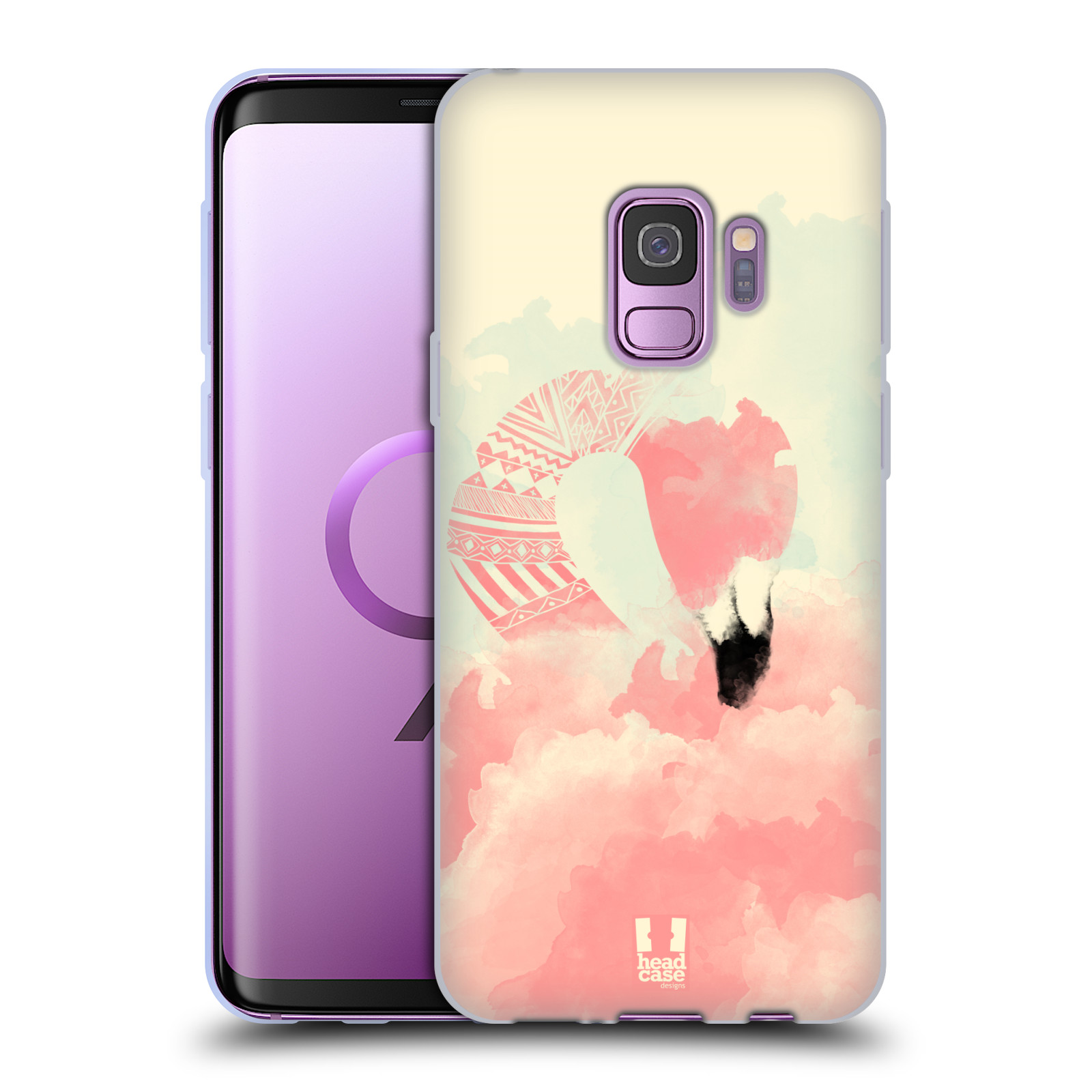 Funda-HEAD-CASE-DESIGNS-CON-FAB-Flamingo-Gel-Suave-Para-Telefonos-Samsung-1