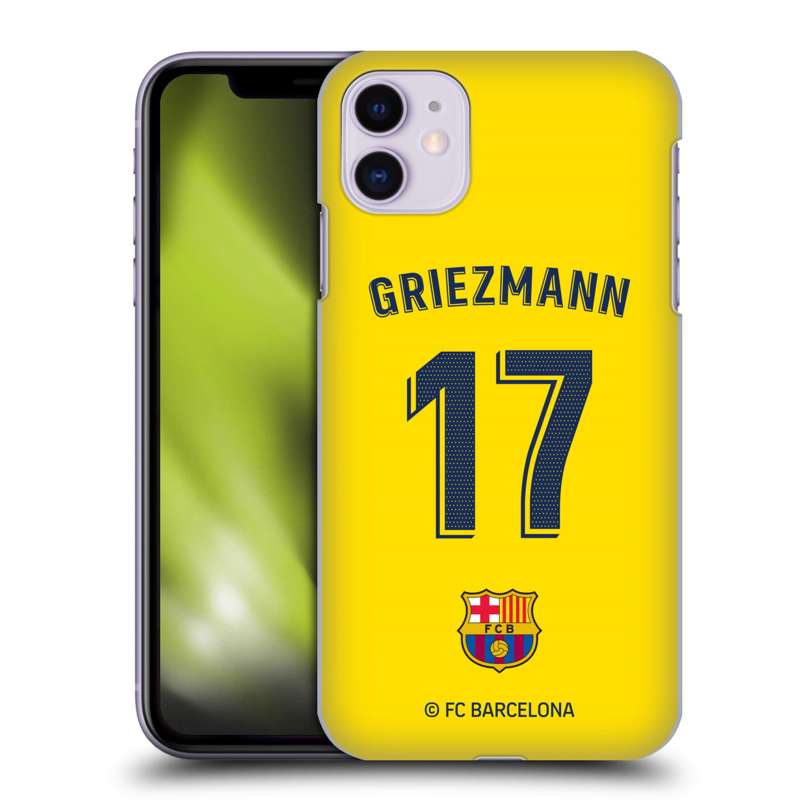 Official FC Barcelona 2019/20 Players Away Kit Group 1 Antoine Griezmann Case for Apple iPhone 11