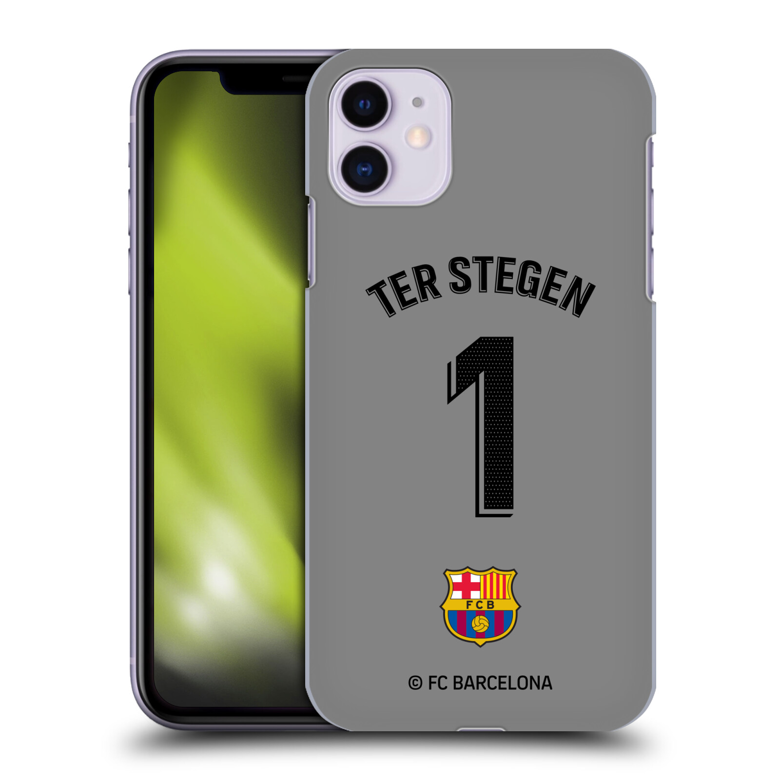 Official FC Barcelona 2019/20 Players Away Kit Group 1 Ter Stegen Case for Apple iPhone 11
