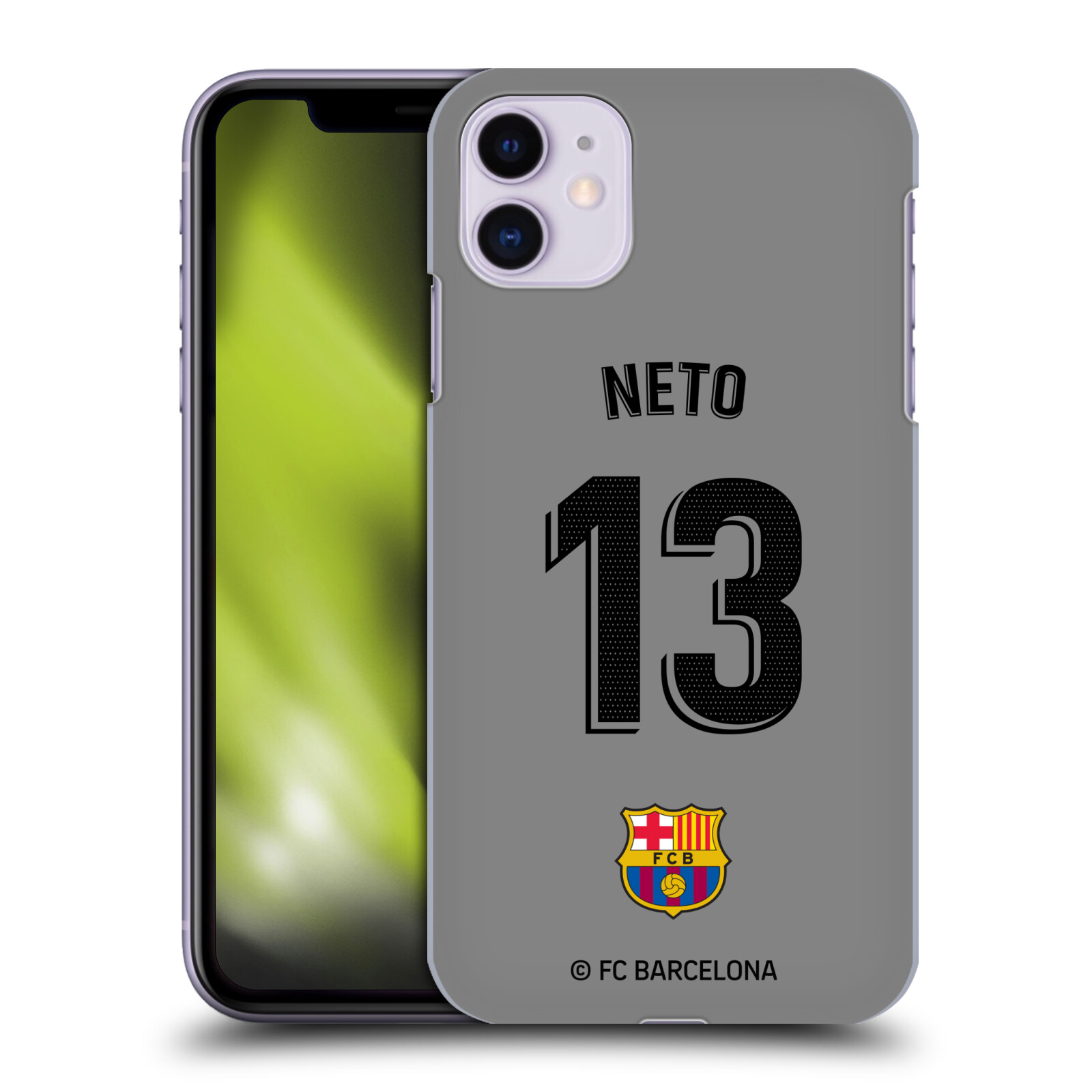 Official FC Barcelona 2019/20 Players Away Kit Group 2 Norberto Murara Neto Case for Apple iPhone 11