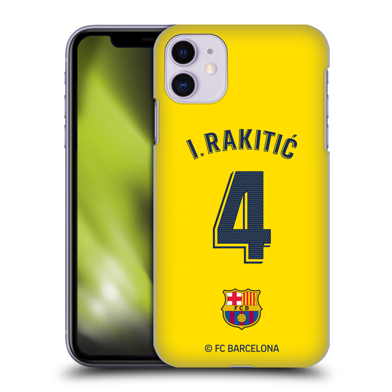 Official FC Barcelona 2019/20 Players Away Kit Group 2 Ivan Rakitic Case for Apple iPhone 11