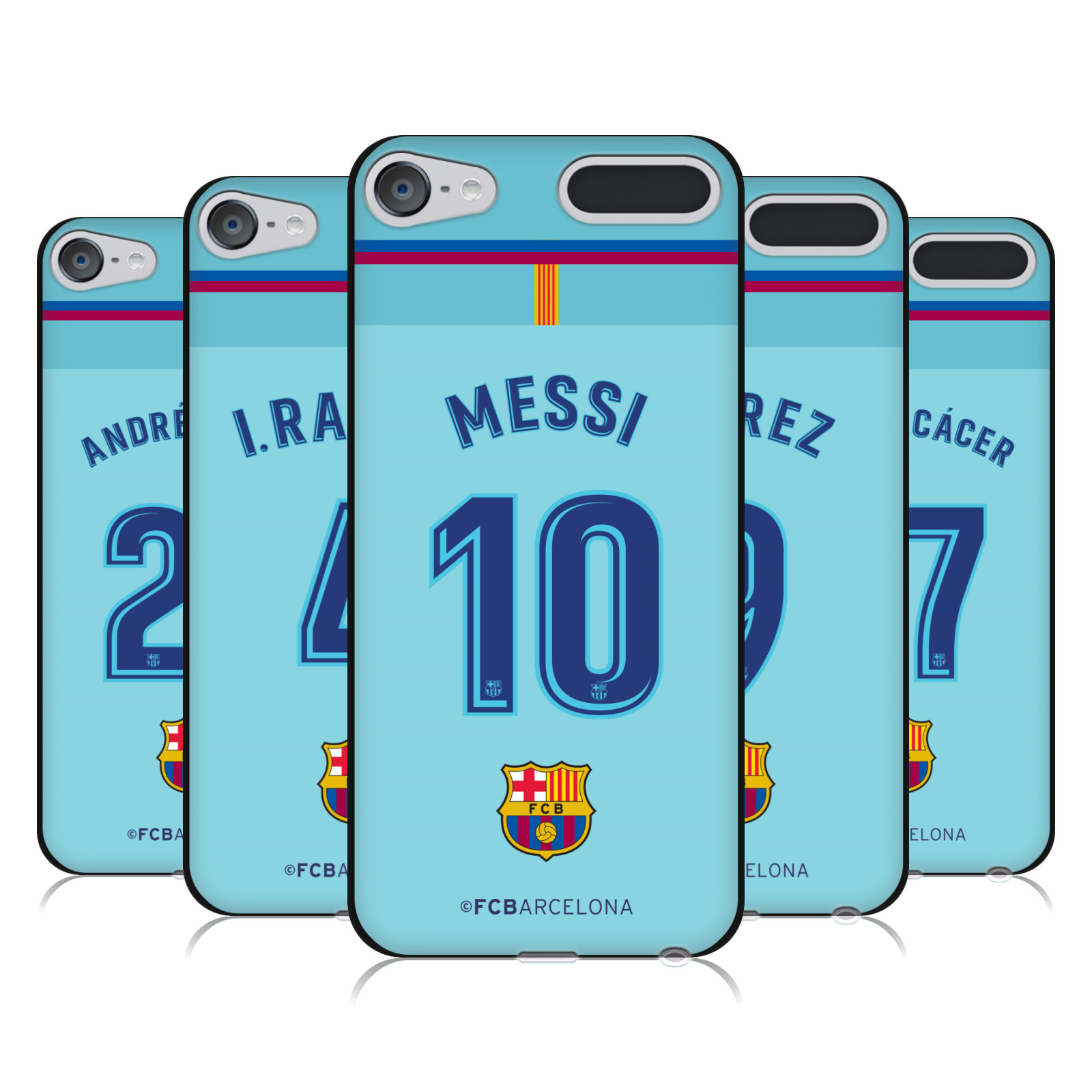 OFFICIAL FC BARCELONA 2017/18 AWAY KIT 1 BLACK GEL CASE FOR APPLE iPOD TOUCH