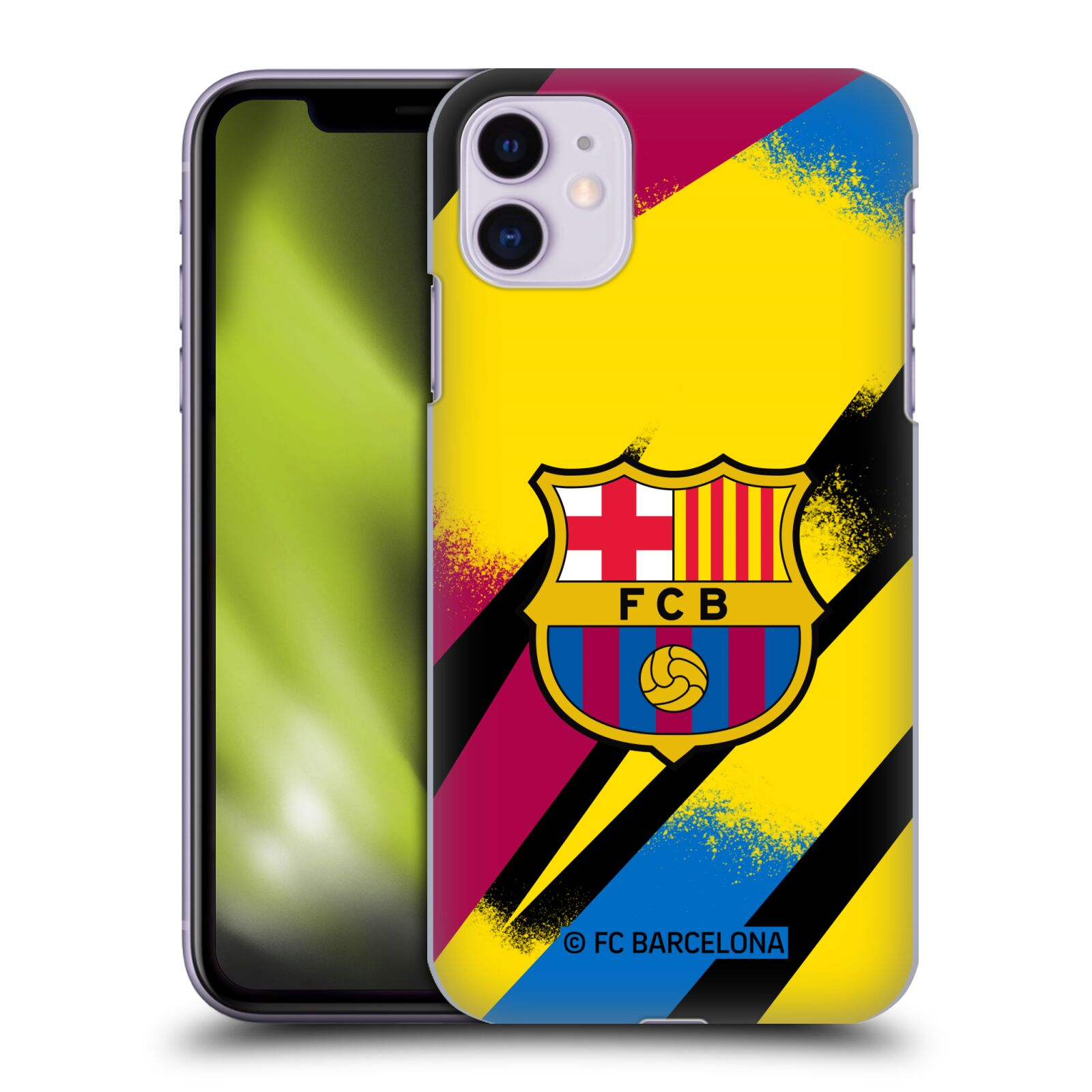Official FC Barcelona 2019/20 CREST KIT Third Goalkeeper Case for Apple iPhone 11