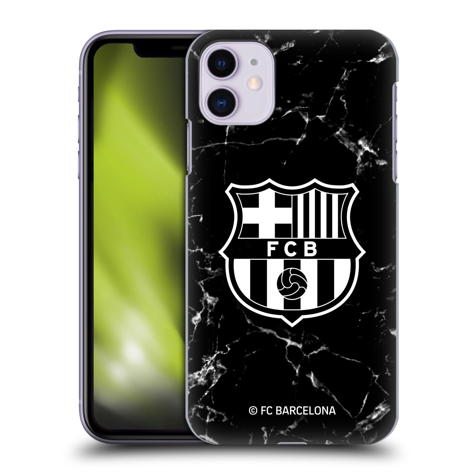 Official FC Barcelona 2019/20 Crest Patterns Black Marble Case for Apple iPhone 11