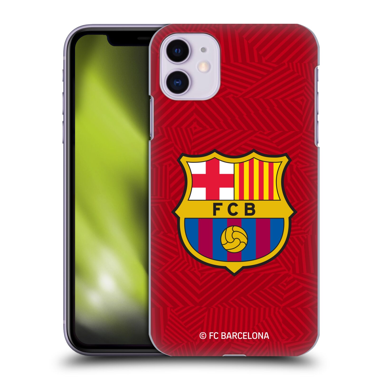 Official FC Barcelona 2017/18 Crest Red Case for Apple iPhone 11