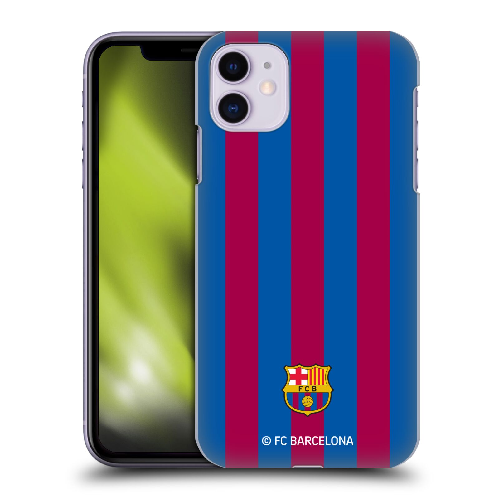 Official FC Barcelona 2017/18 Crest Stripes Case for Apple iPhone 11