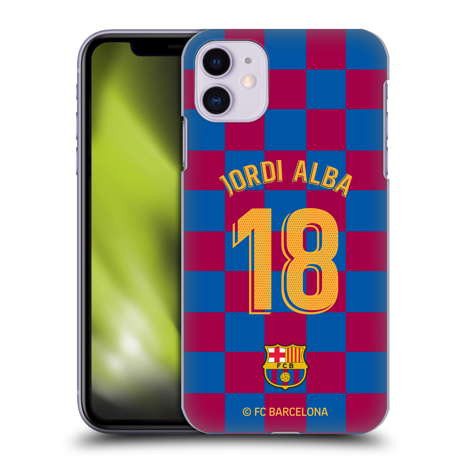 Official FC Barcelona 2019/20 Players Home Kit Group 1 Jordi Alba Case for Apple iPhone 11