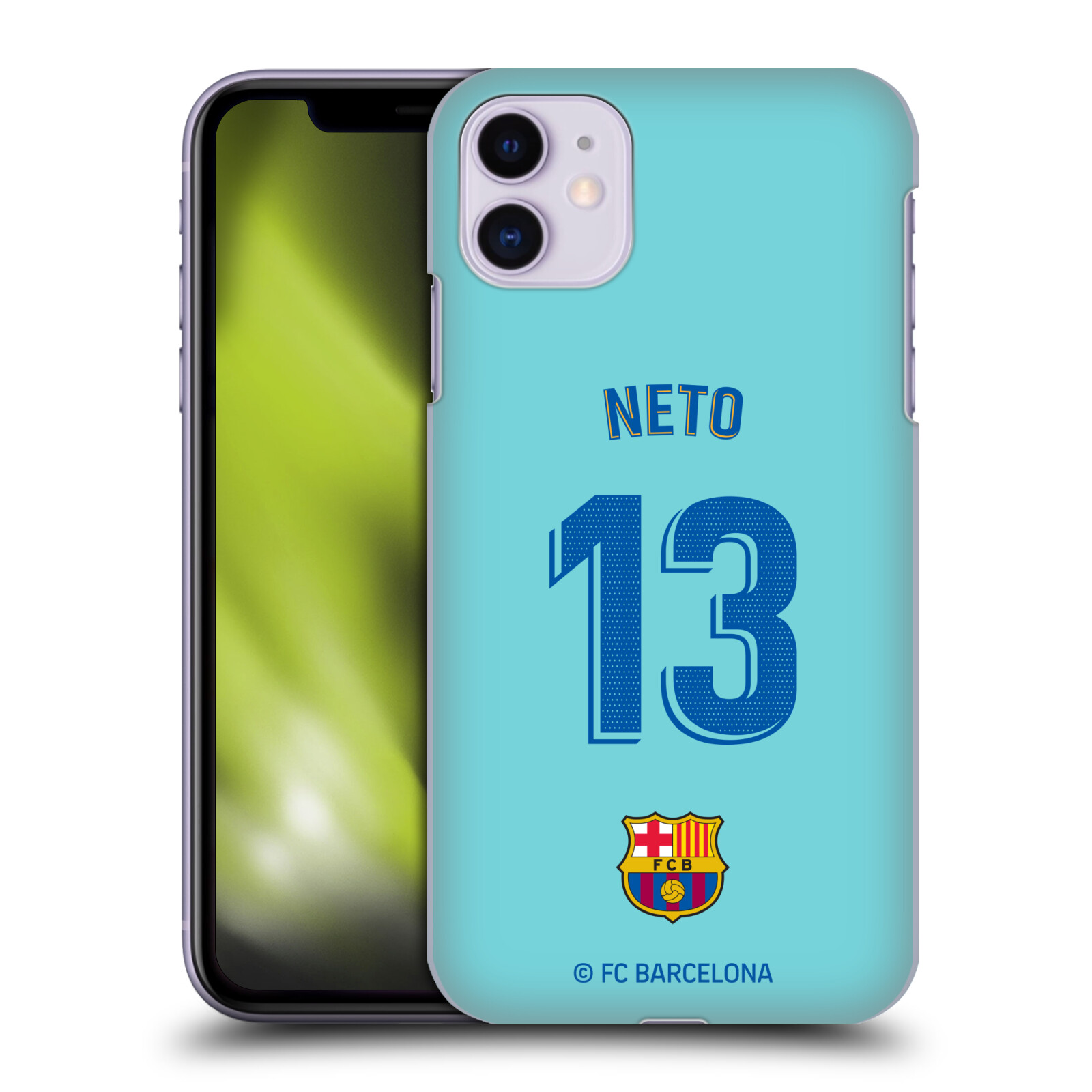 Official FC Barcelona 2019/20 Players Home Kit Group 2 Norberto Murara Neto Case for Apple iPhone 11