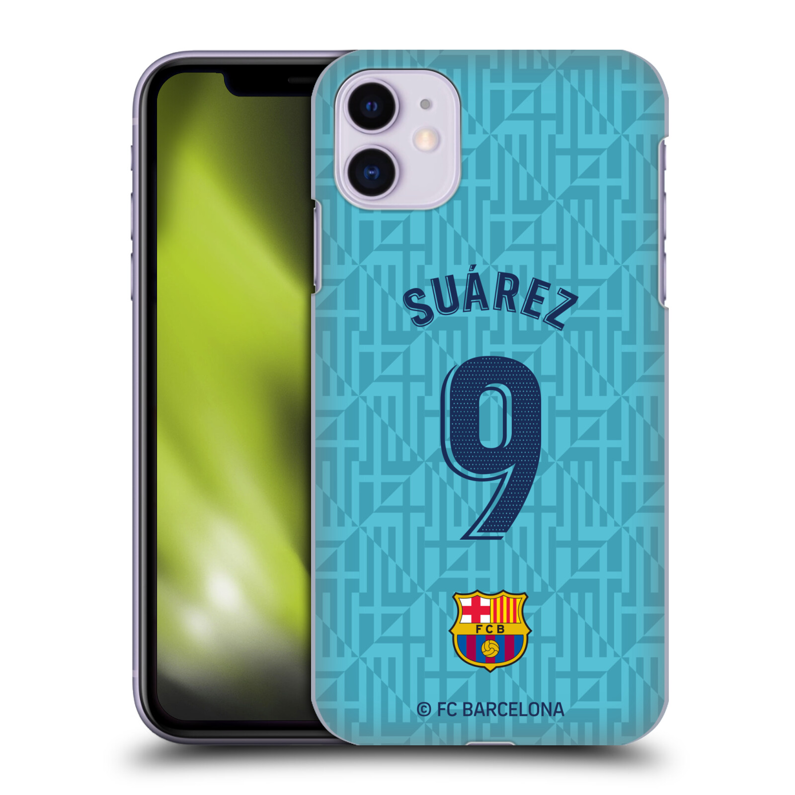 Official FC Barcelona 2019/20 Players Third Kit Group 1 Luis Suárez Case for Apple iPhone 11