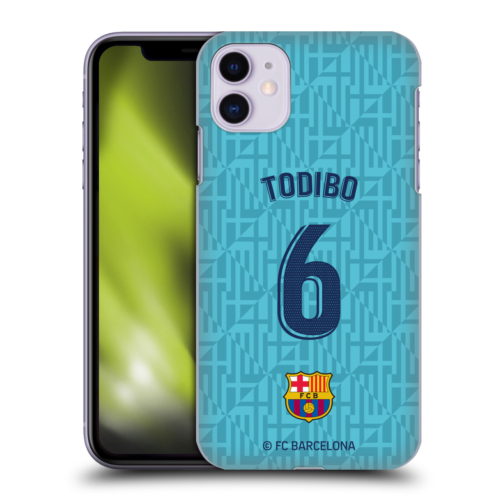 Official FC Barcelona 2019/20 Players Third Kit Group 2 Jean-Chair Todibo Case for Apple iPhone 11
