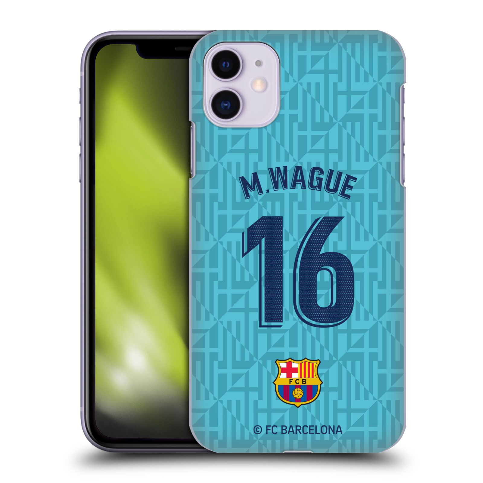 Official FC Barcelona 2019/20 Players Third Kit Group 2 Moussa Wague Case for Apple iPhone 11