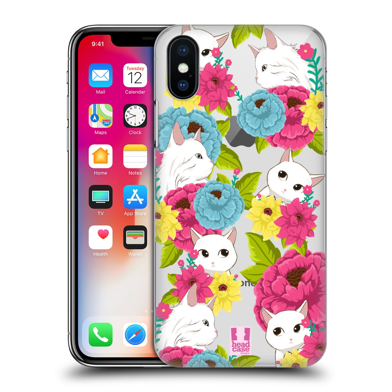 HEAD-CASE-DESIGNS-FLORAL-amp-ANIMAL-PATTERN-HARD-BACK-CASE-FOR-APPLE-iPHONE-X