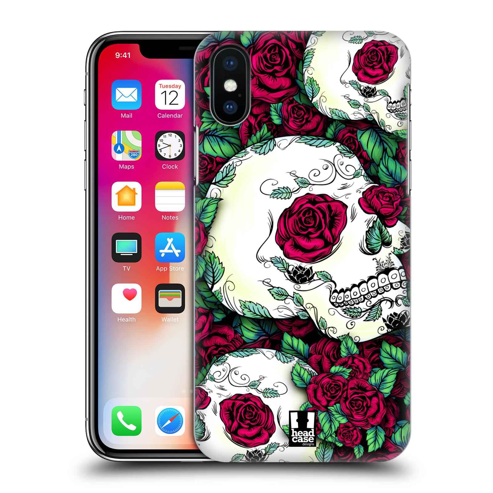 HEAD-CASE-DESIGNS-FLORIDO-DE-LAS-CALAVERAS-CASO-PARA-APPLE-iPHONE-TELEFONOS