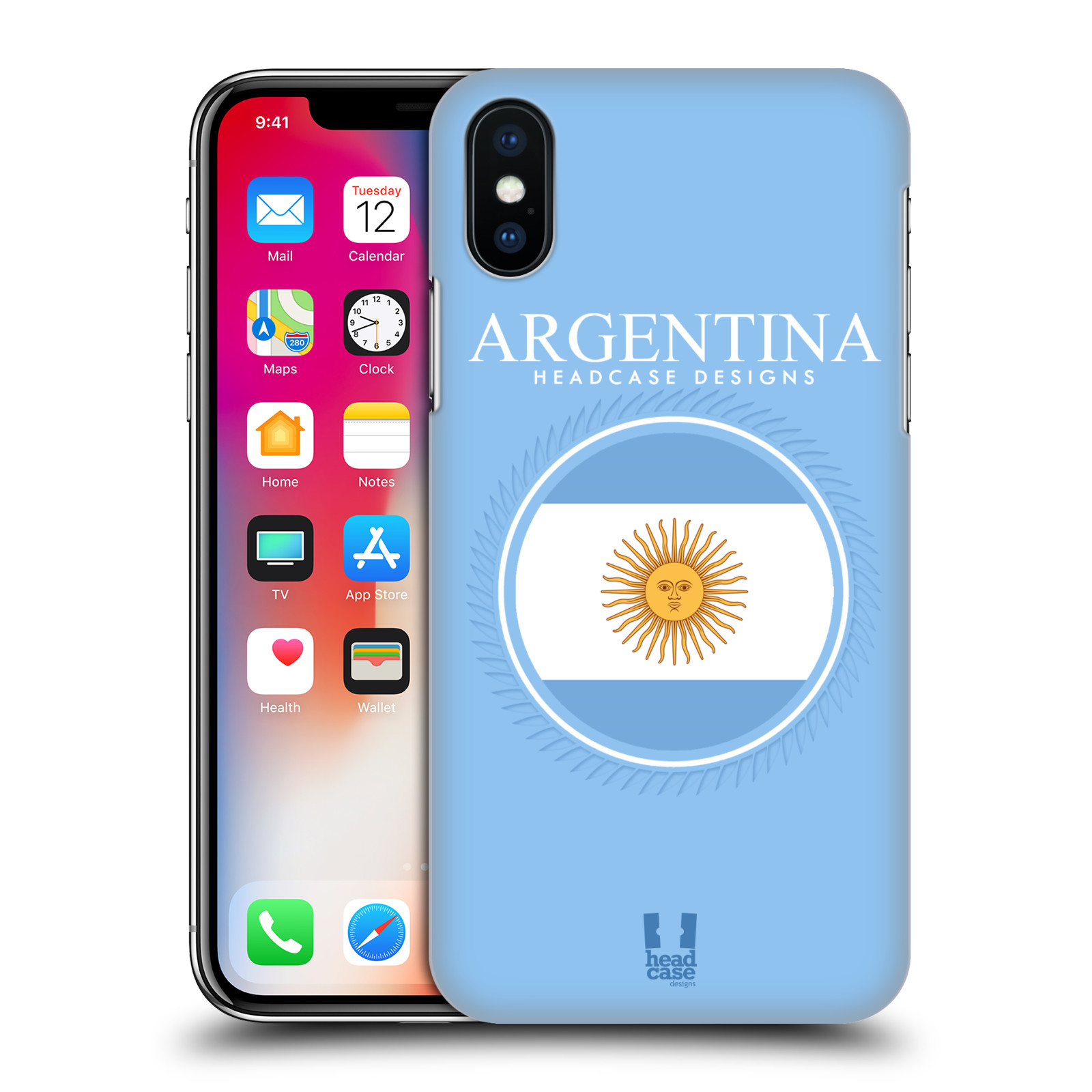 HEAD-CASE-DESIGNS-FLAG-PATCHES-HARD-BACK-CASE-FOR-APPLE-iPHONE-X