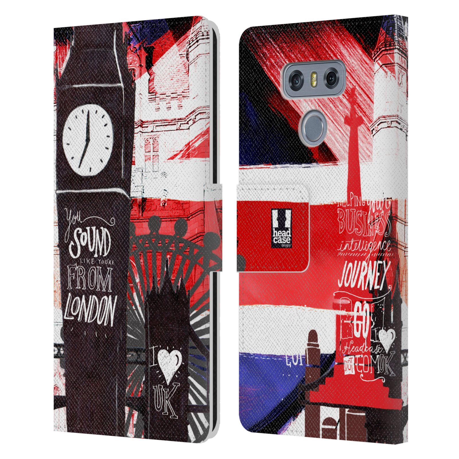 Funda-HEAD-CASE-DESIGNS-I-Love-London-Cuero-Libro-Billetera-Estuche-Cubierta-para-Telefonos-Lg-1