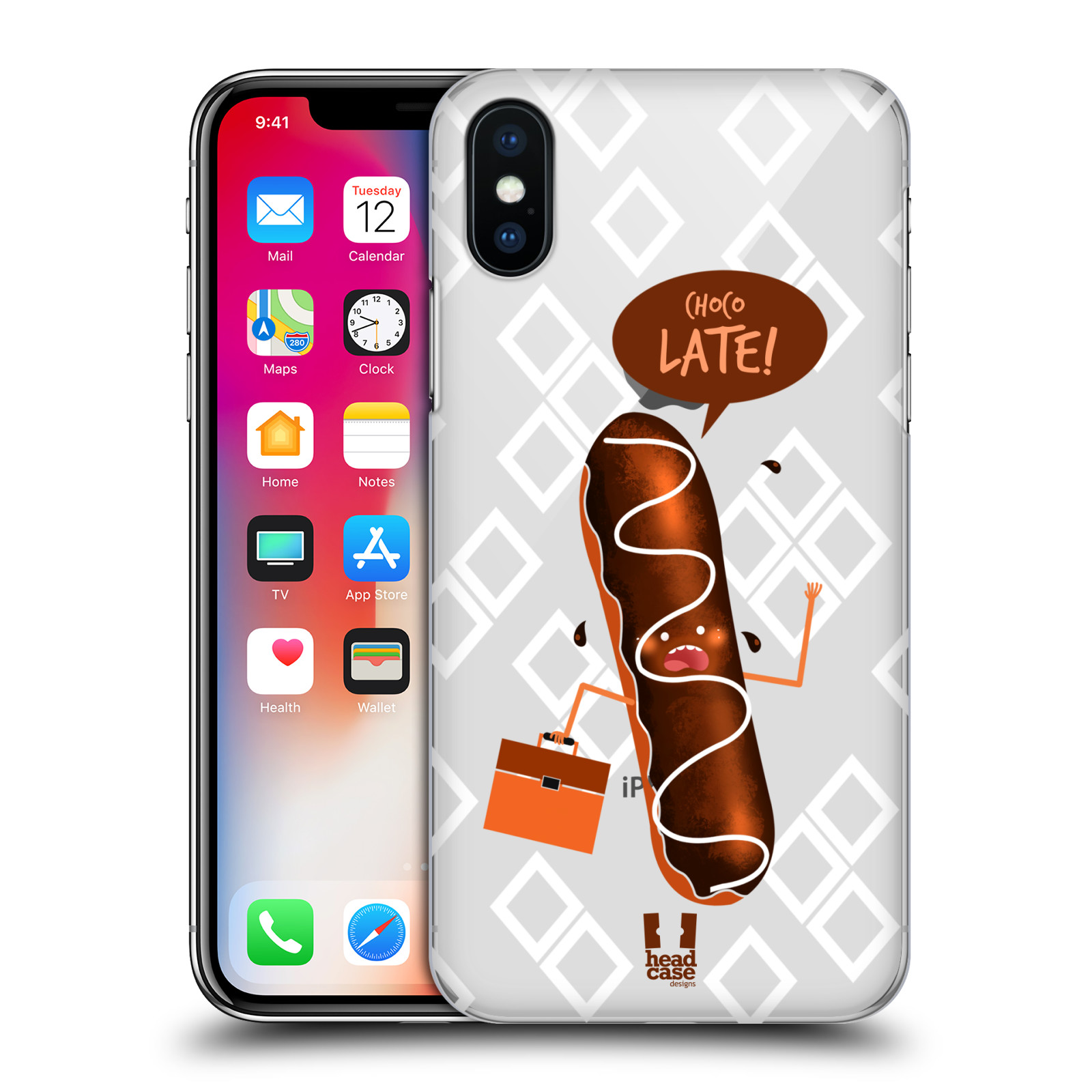 HEAD-CASE-DESIGNS-FOOD-PUN-2-HARD-BACK-CASE-FOR-APPLE-iPHONE-X