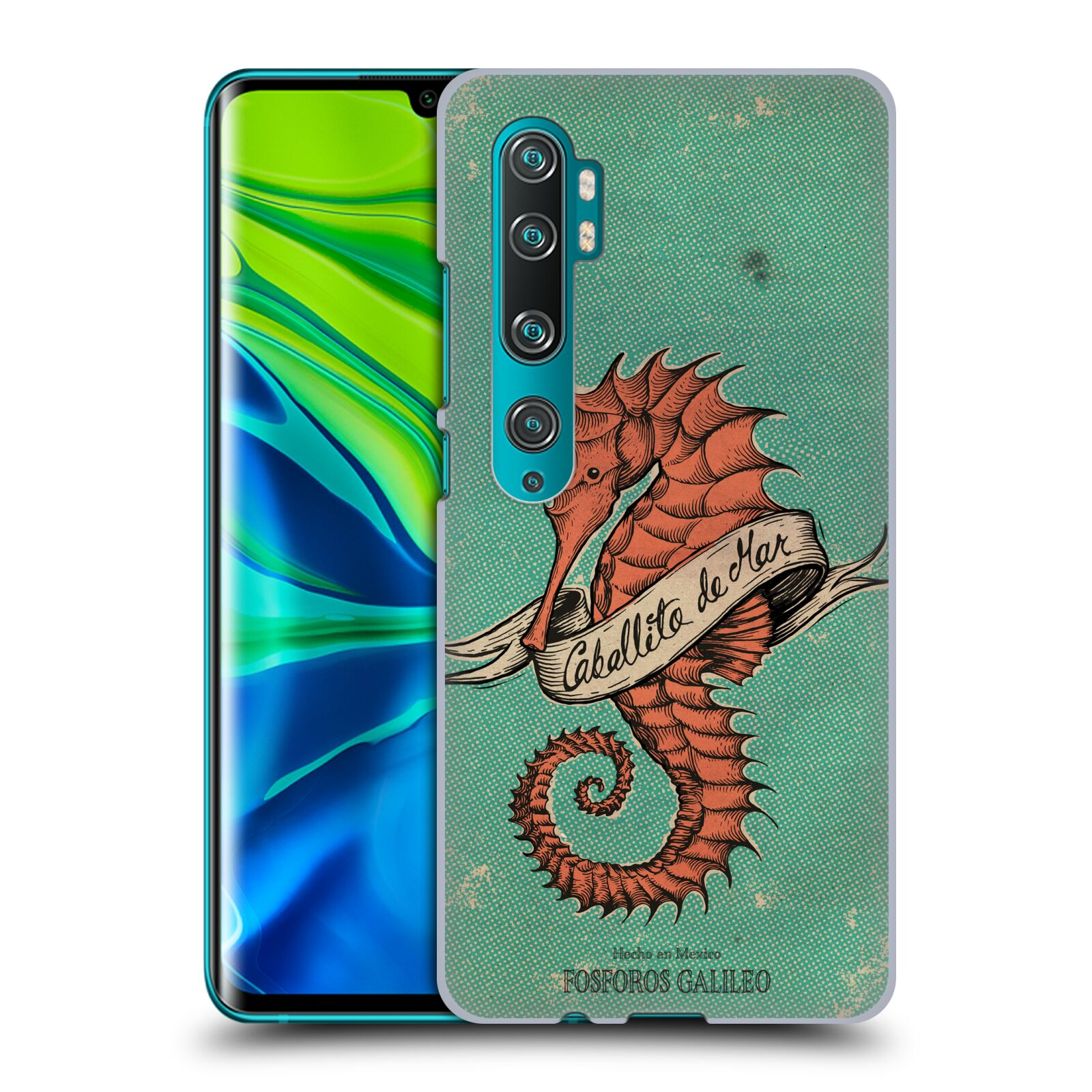 Official Fosforos Galileo Diseños Caballito De Mar Case for Xiaomi Mi CC9 Pro / Mi Note 10 / Pro