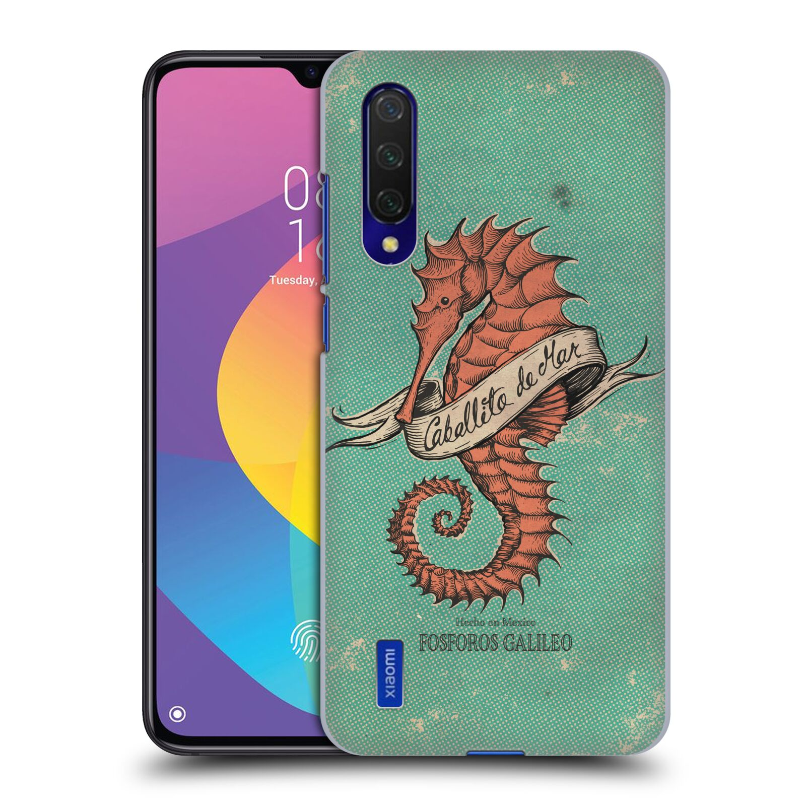 Official Fosforos Galileo Diseños Caballito De Mar Case for Xiaomi Mi 9 Lite