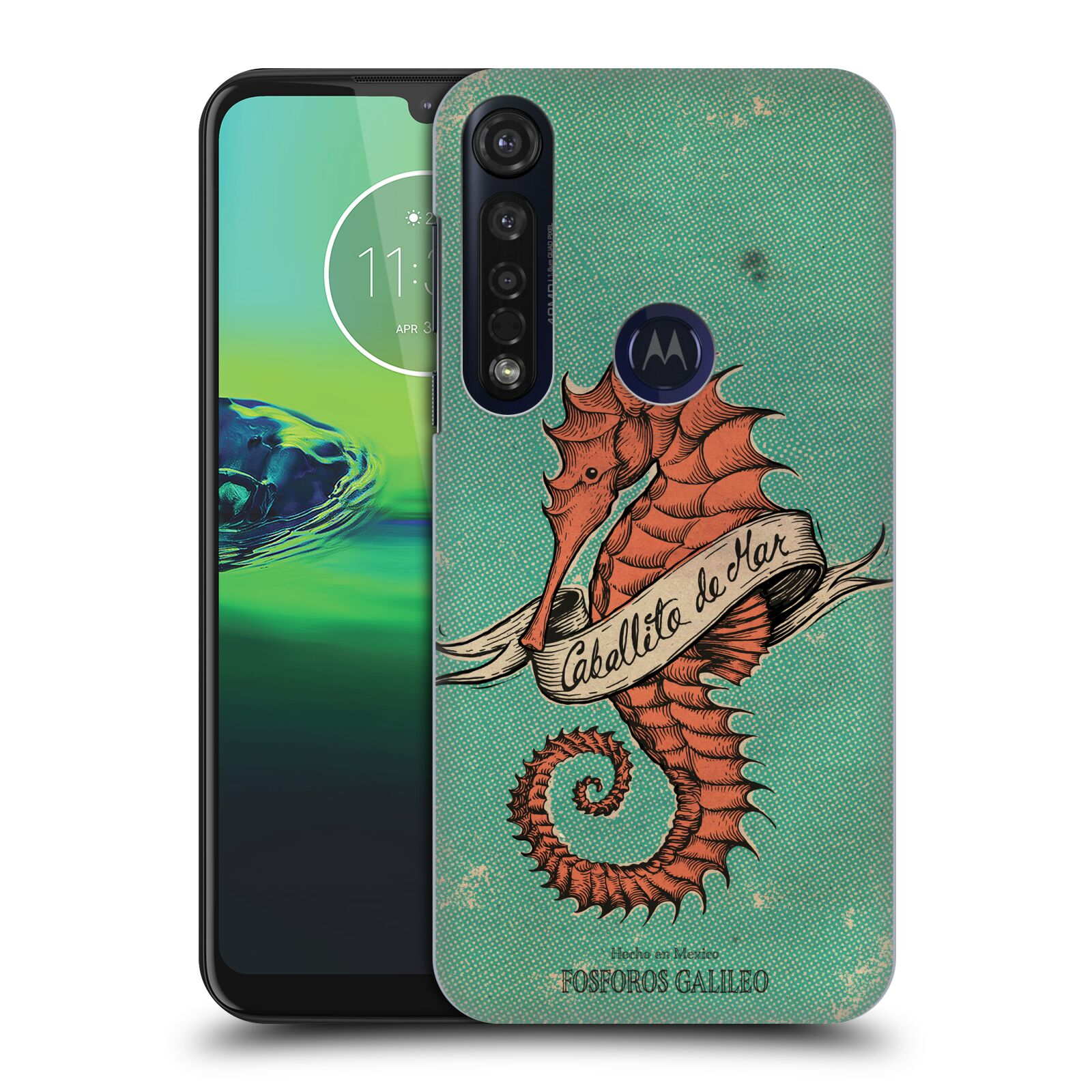 Official Fosforos Galileo Diseños Caballito De Mar Case for Motorola Moto G8 Plus