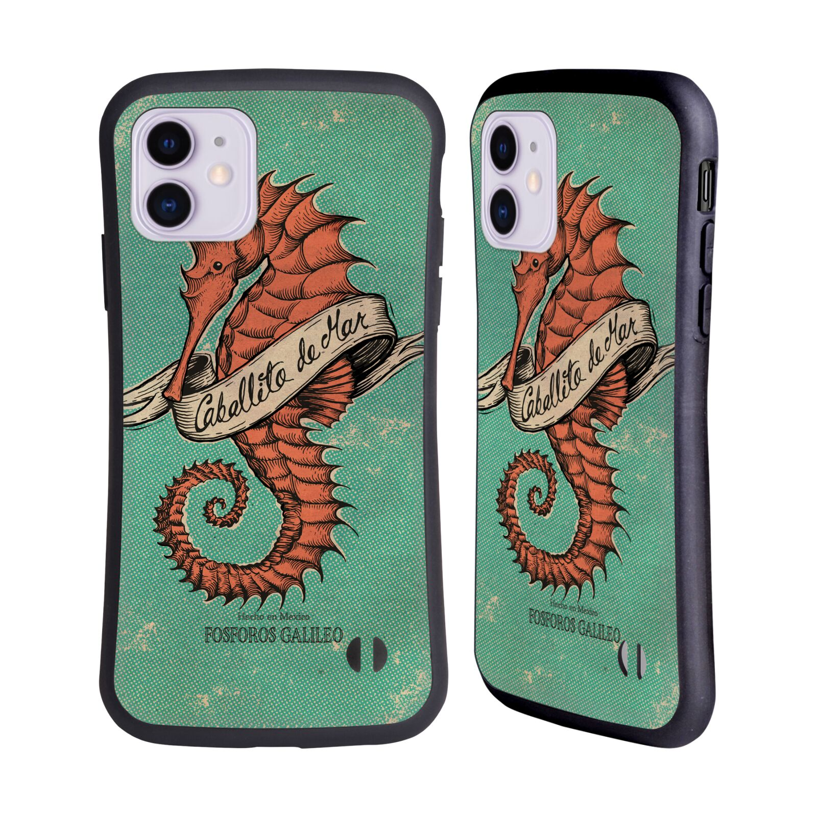 Official Fosforos Galileo Diseños Caballito De Mar Hybrid Case for Apple iPhone 11