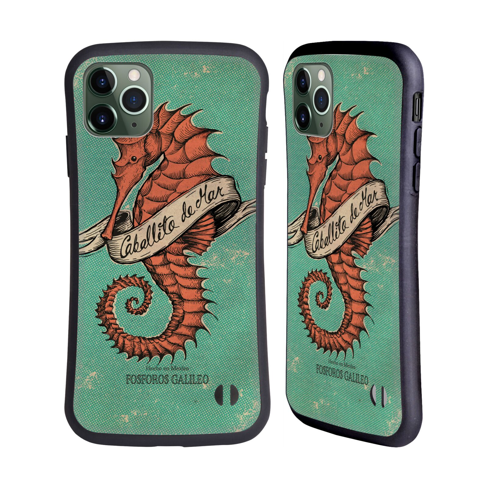 Official Fosforos Galileo Diseños Caballito De Mar Hybrid Case for Apple iPhone 11 Pro Max