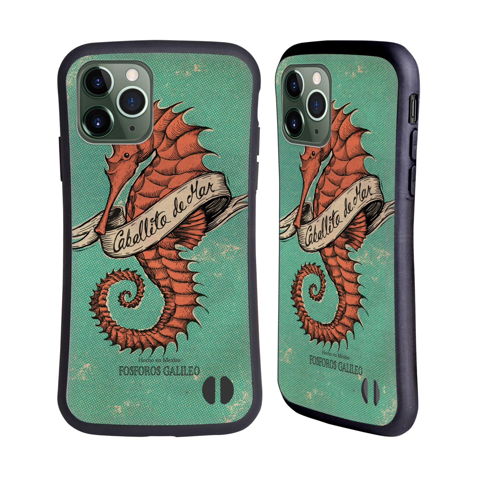 Official Fosforos Galileo Diseños Caballito De Mar Hybrid Case for Apple iPhone 11 Pro