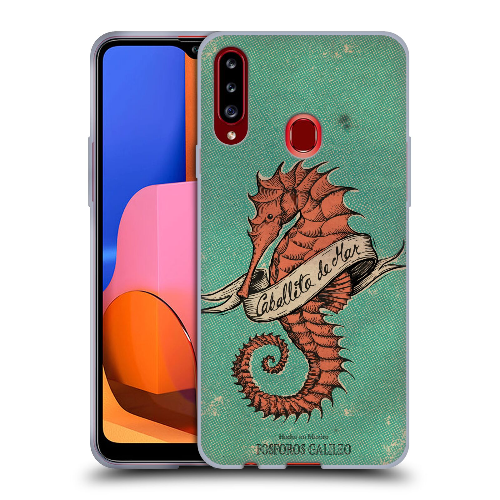 Official Fosforos Galileo Diseños Caballito De Mar Gel Case for Samsung Galaxy A20s (2019)