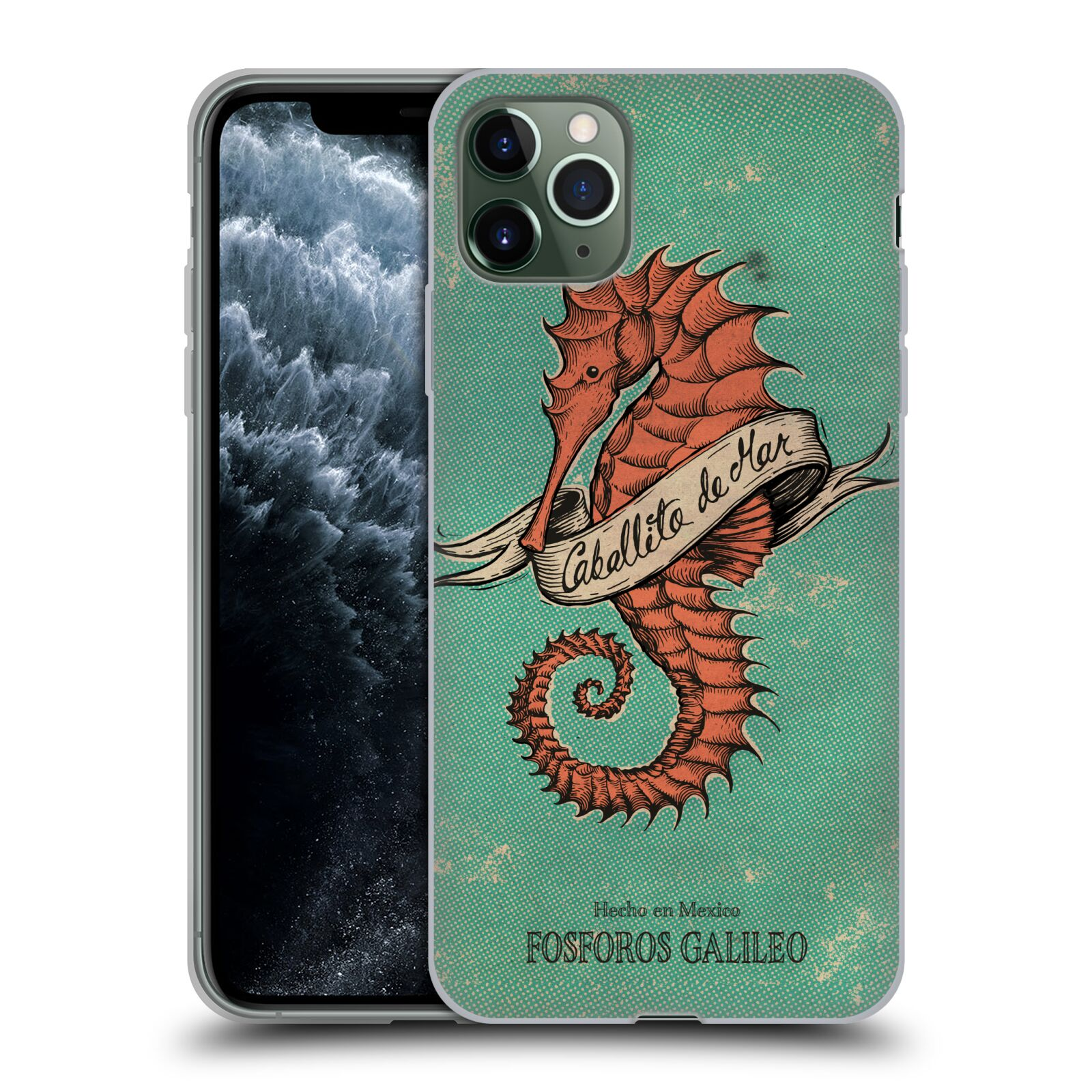 Official Fosforos Galileo Diseños Caballito De Mar Gel Case for Apple iPhone 11 Pro Max