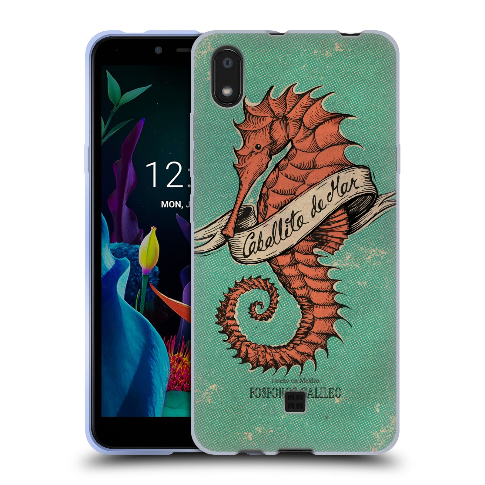 Official Fosforos Galileo Diseños Caballito De Mar Gel Case for LG K20 (2019)