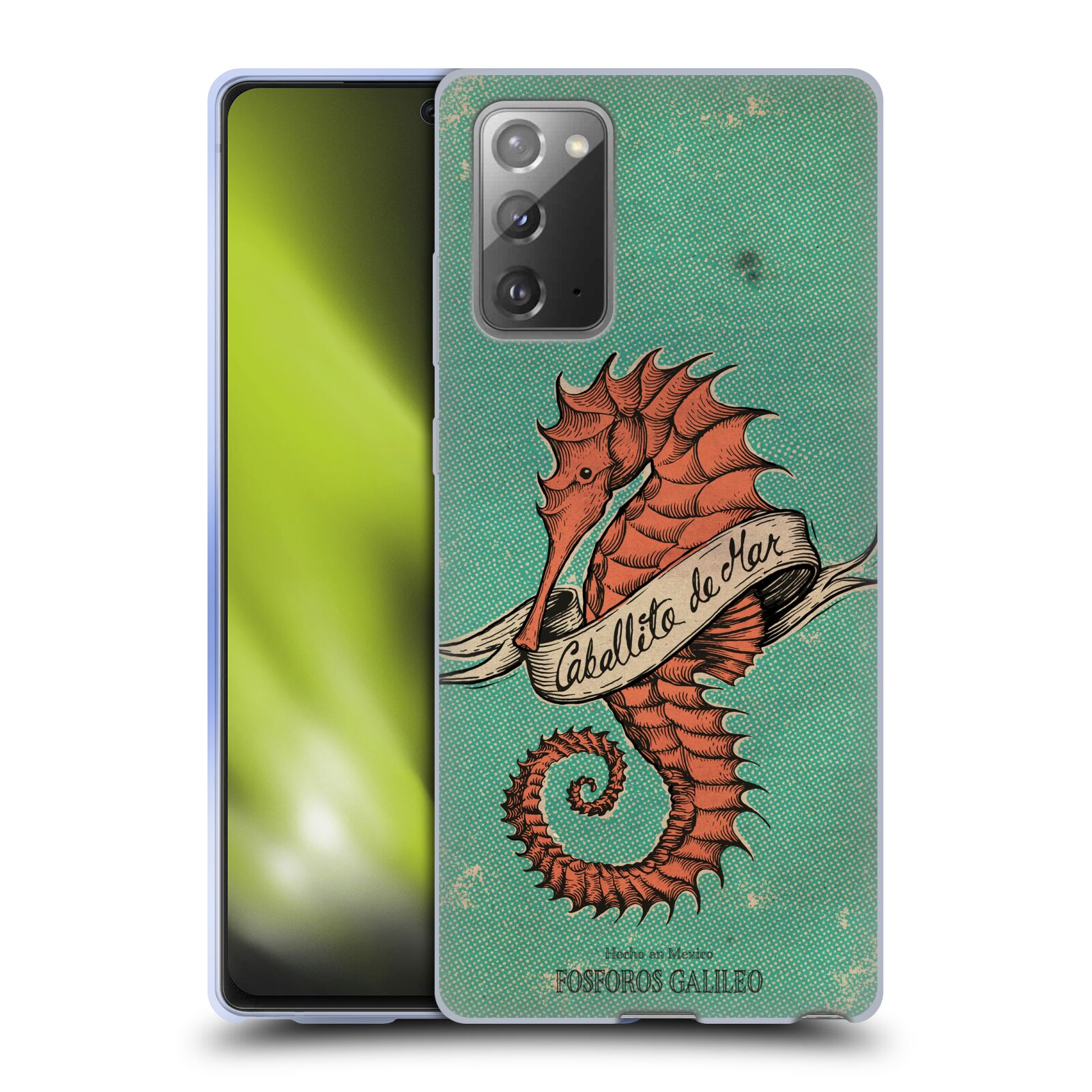 Official Fosforos Galileo Diseños Caballito De Mar Gel Case for Samsung Galaxy Note20 / 5G