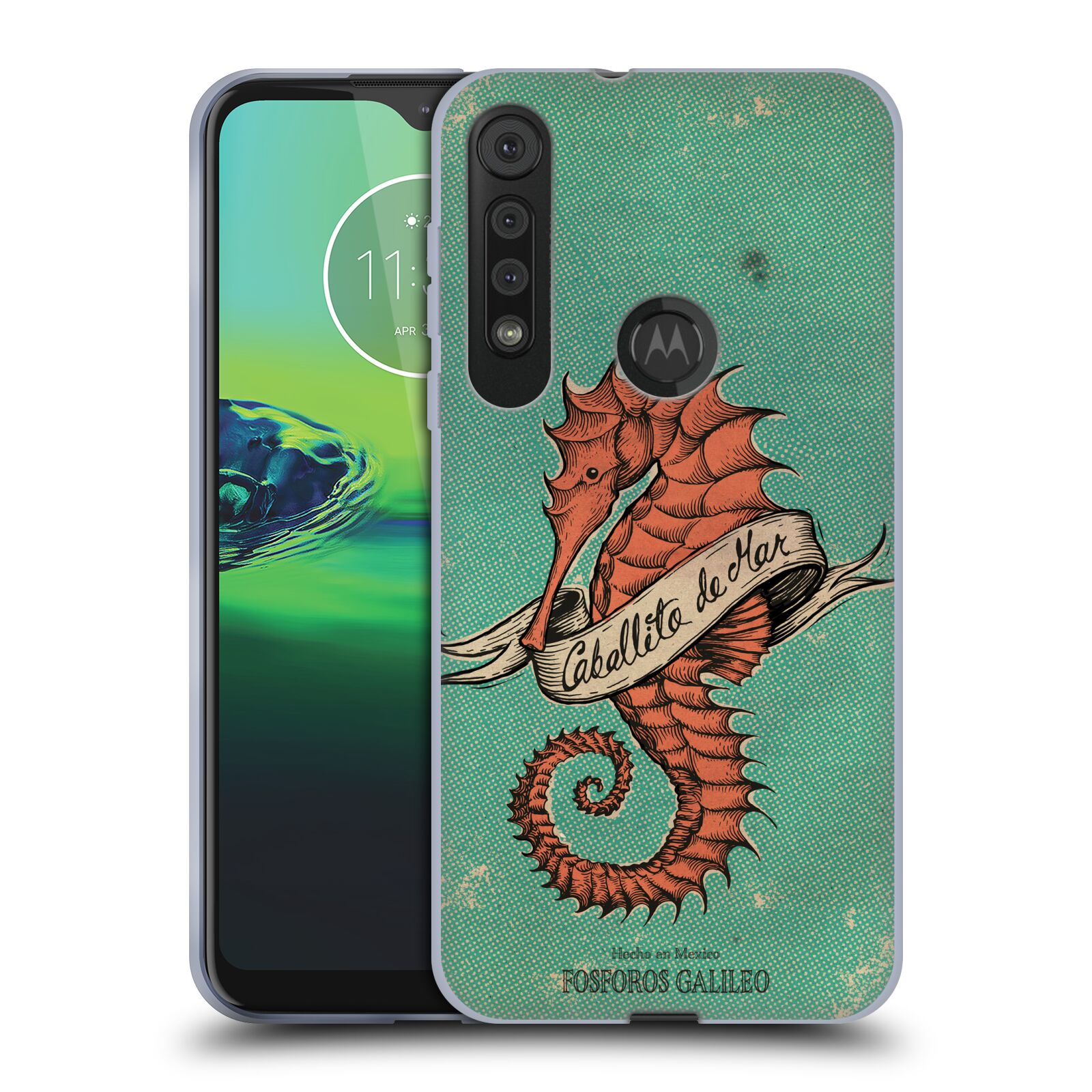 Official Fosforos Galileo Diseños Caballito De Mar Gel Case for Motorola One Macro / Moto G8 Play