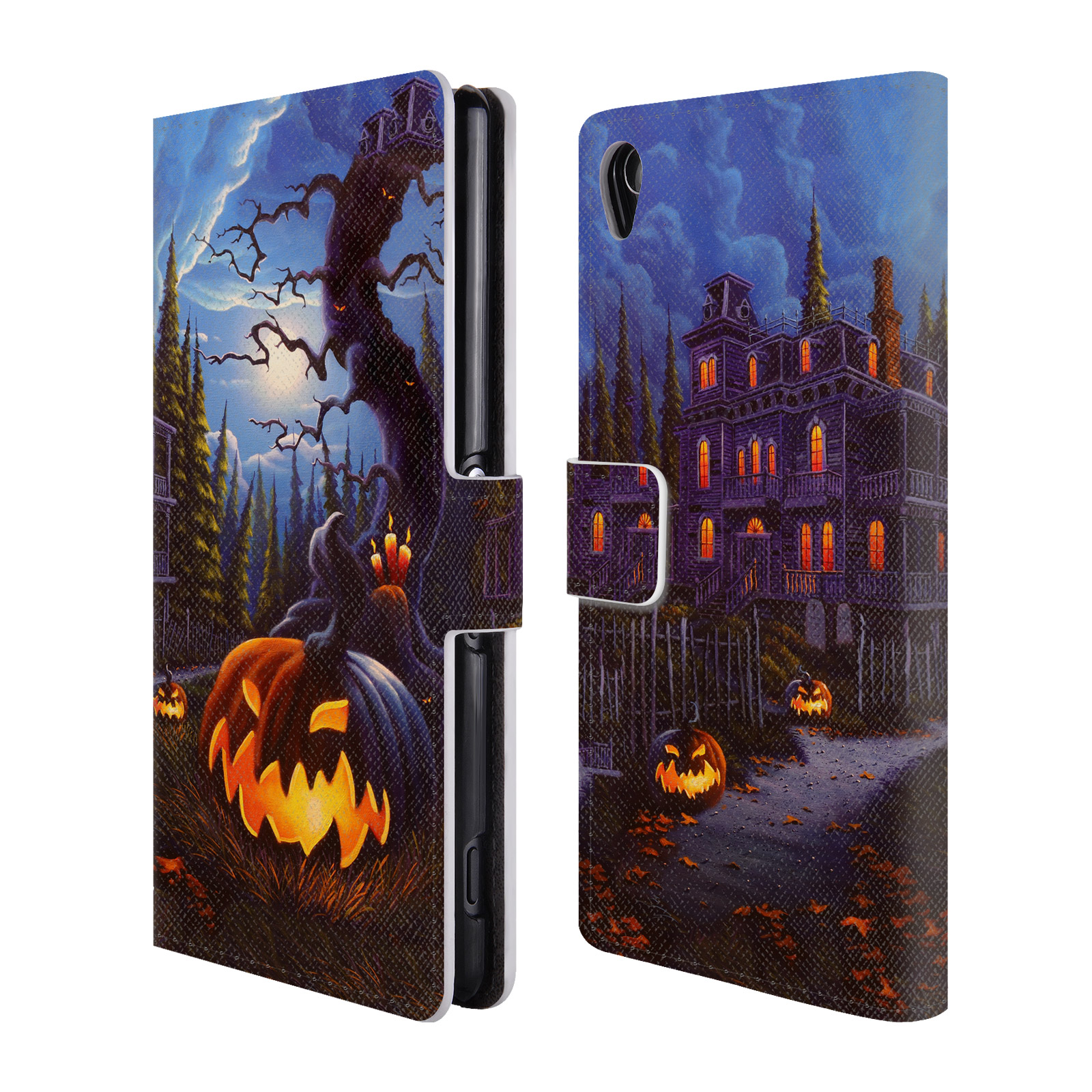 OFFICIAL-GENO-PEOPLES-ART-HALLOWEEN-LEATHER-BOOK-WALLET-CASE-FOR-SONY-PHONES-1