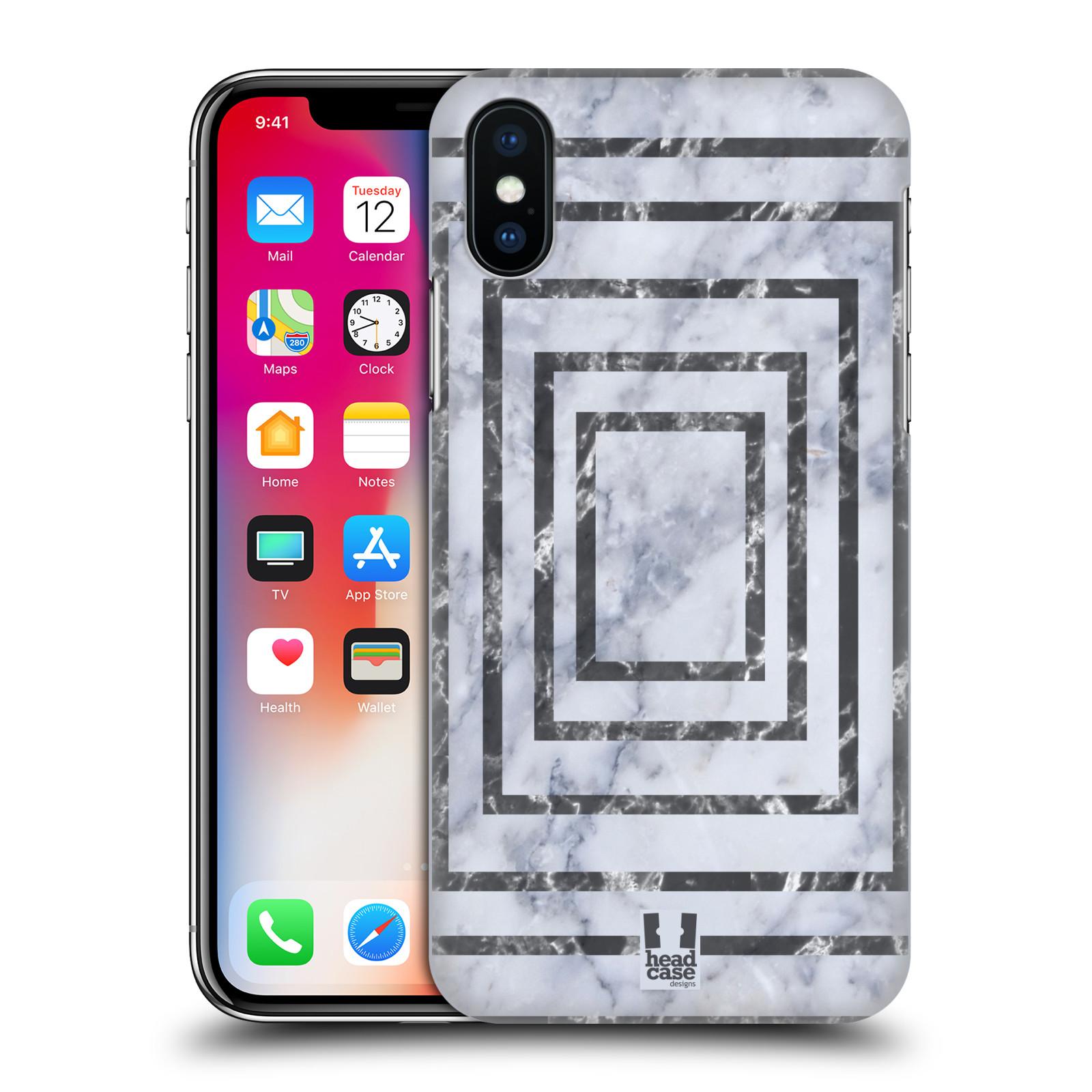 HEAD-CASE-DESIGNS-MARBRE-GEOMETRIQUE-ETUI-COQUE-D-039-ARRIERE-POUR-APPLE-iPHONE-X