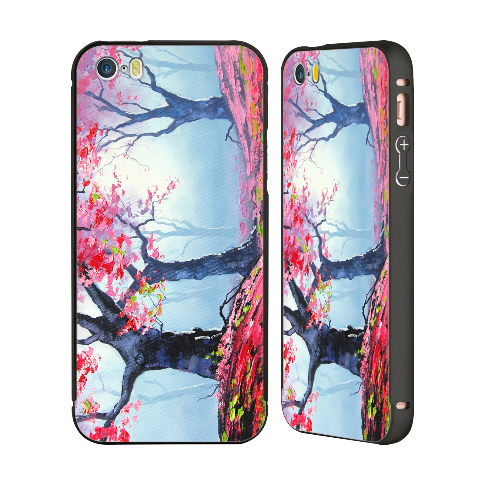 OFFICIAL-GRAHAM-GERCKEN-TREES-BLACK-BUMPER-SLIDER-CASE-FOR-APPLE-iPHONE-PHONES