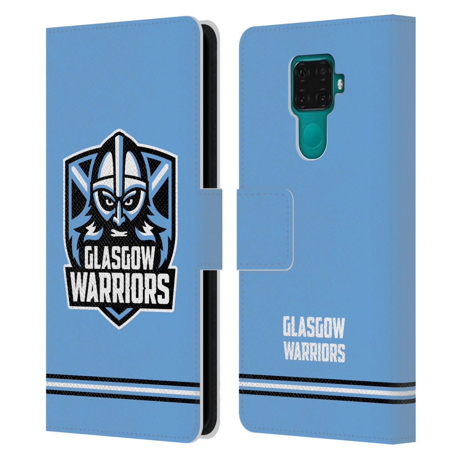 Official Glasgow Warriors 2019/20 Logo Art Stripes Blue Leather Book Wallet Case For Huawei Nova 5i Pro/Mate 30 Lite